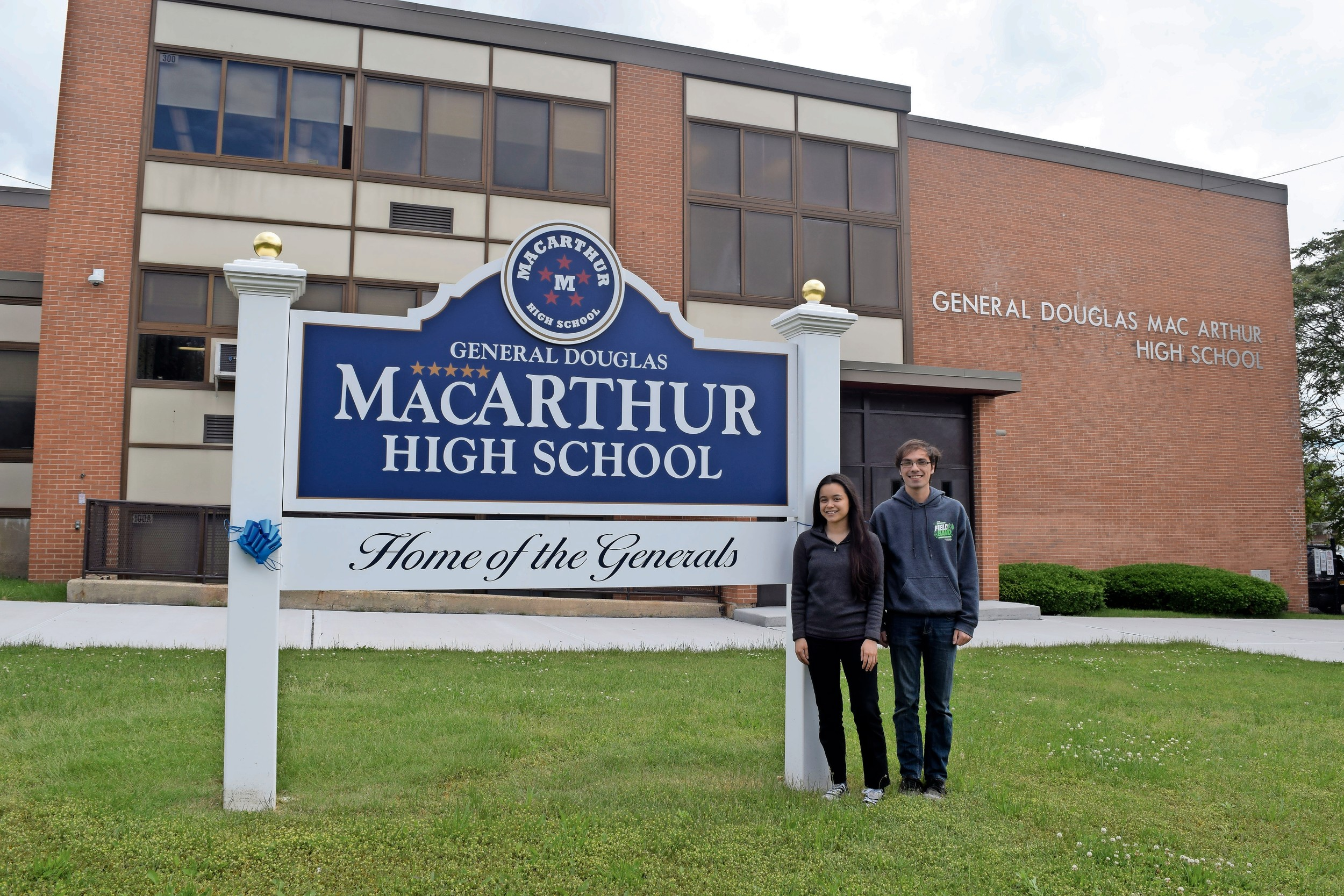 Casey Butcher and James May are the valedictorian and salutatorian of MacArthur High School's class of 2017.
