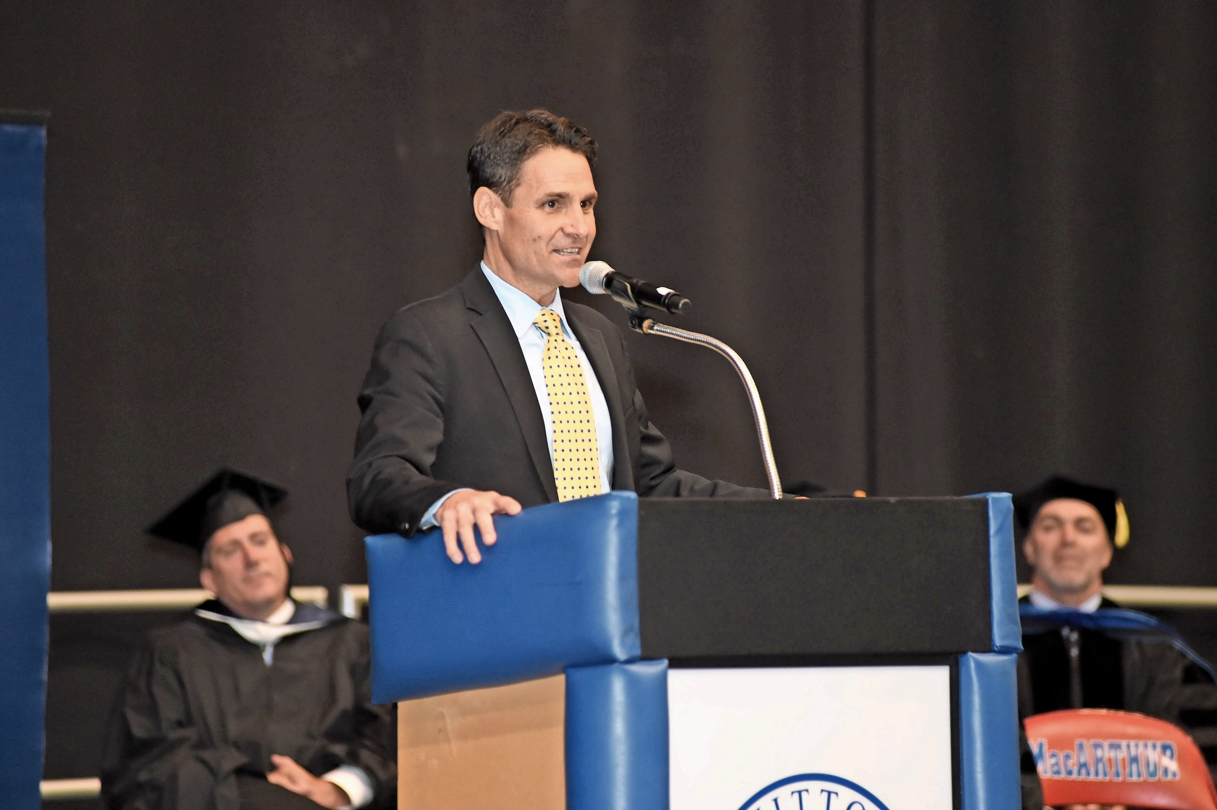 John Theissen, a Wantagh resident, local philanthropist and MacArthur alumnus, was the keynote speaker.