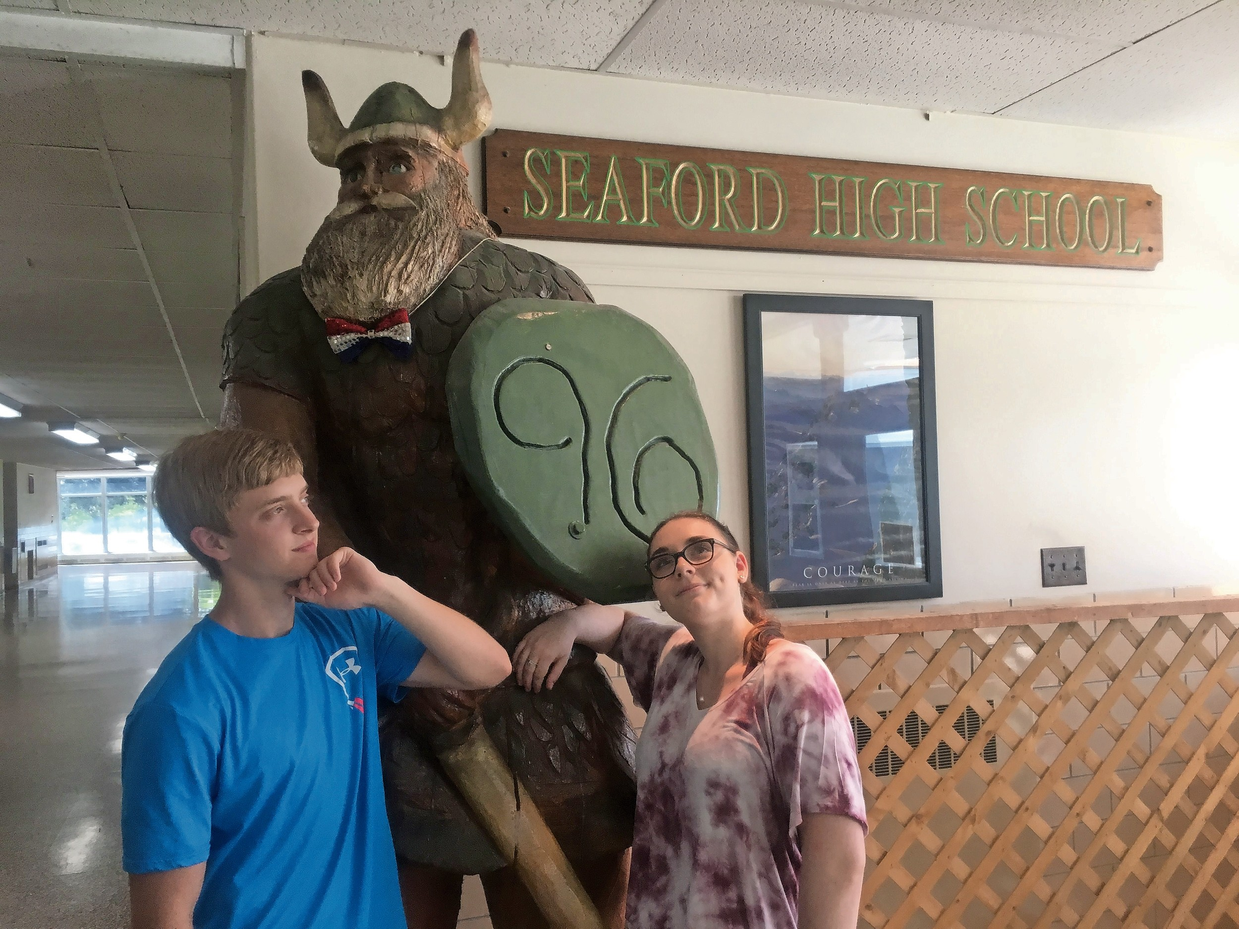 Salutatorian Evan Groder and Valedictorian Sarah Umstadt said that many Seaford students embraced school spirit.