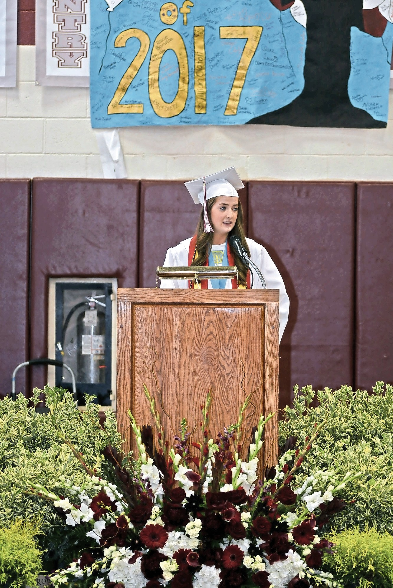 Valedictorian Katie Feehan spoke about the importance of family and friends.