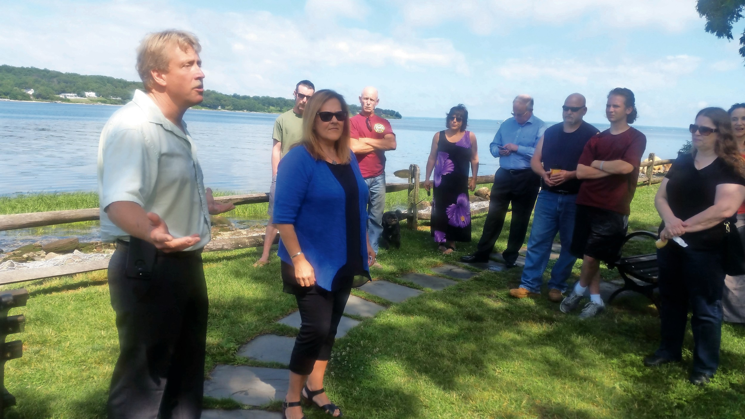 Surrounded by friends, family, and the Sea Cliff-Glen Head Lions Club, John and Lisa Brala held a ceremony at Rum Point Park to honor their son Shaun, who died in 2012. He was 21.