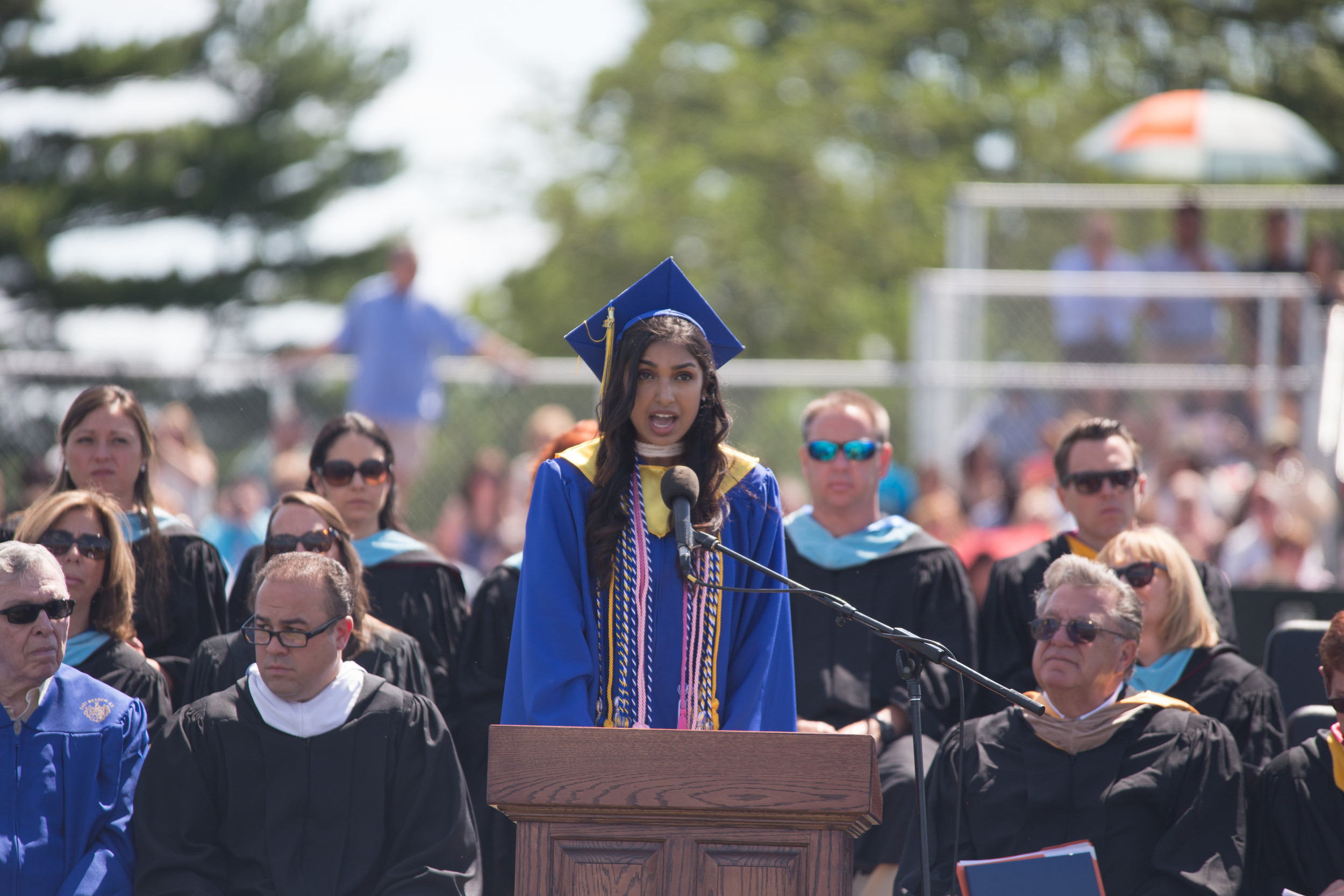 Salutatorian Sonali Persaud reflected on her years at East Meadow High School.