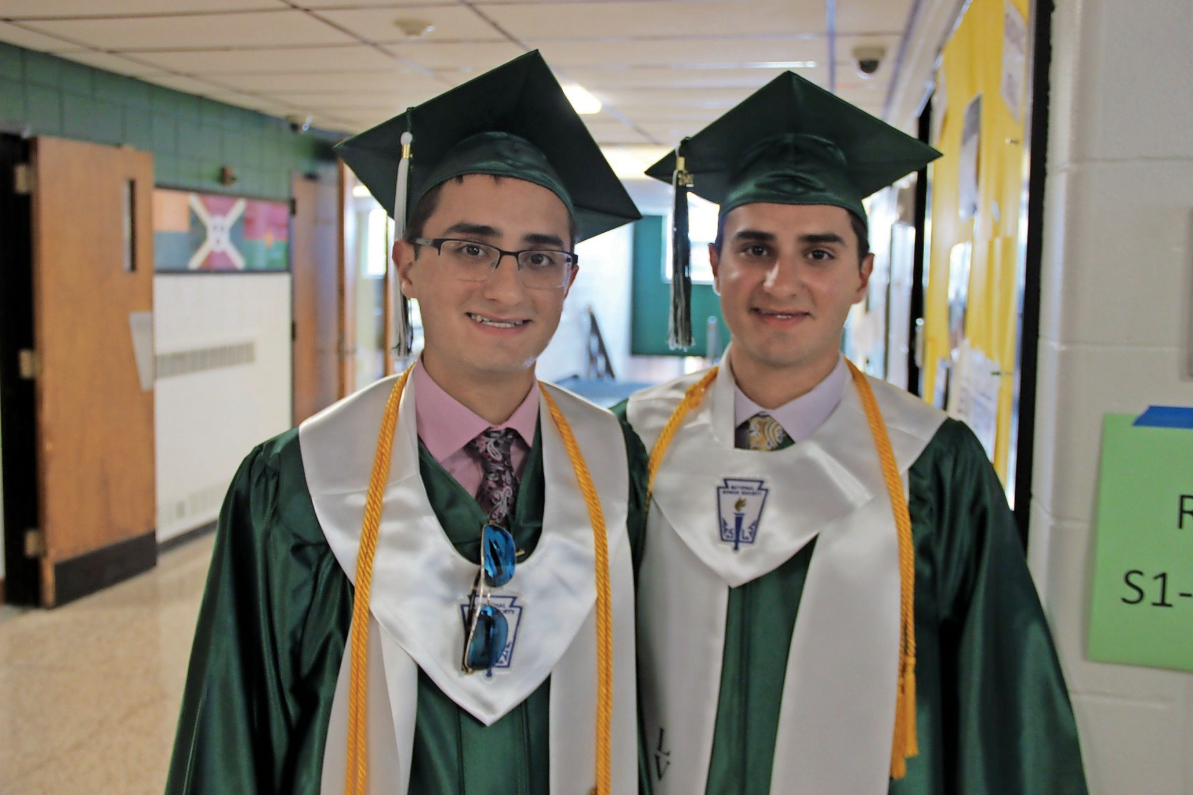 Twins Nicholas, and Matthew Rizzo, the Valedictorian and Salutatorian, of the class of 2017.