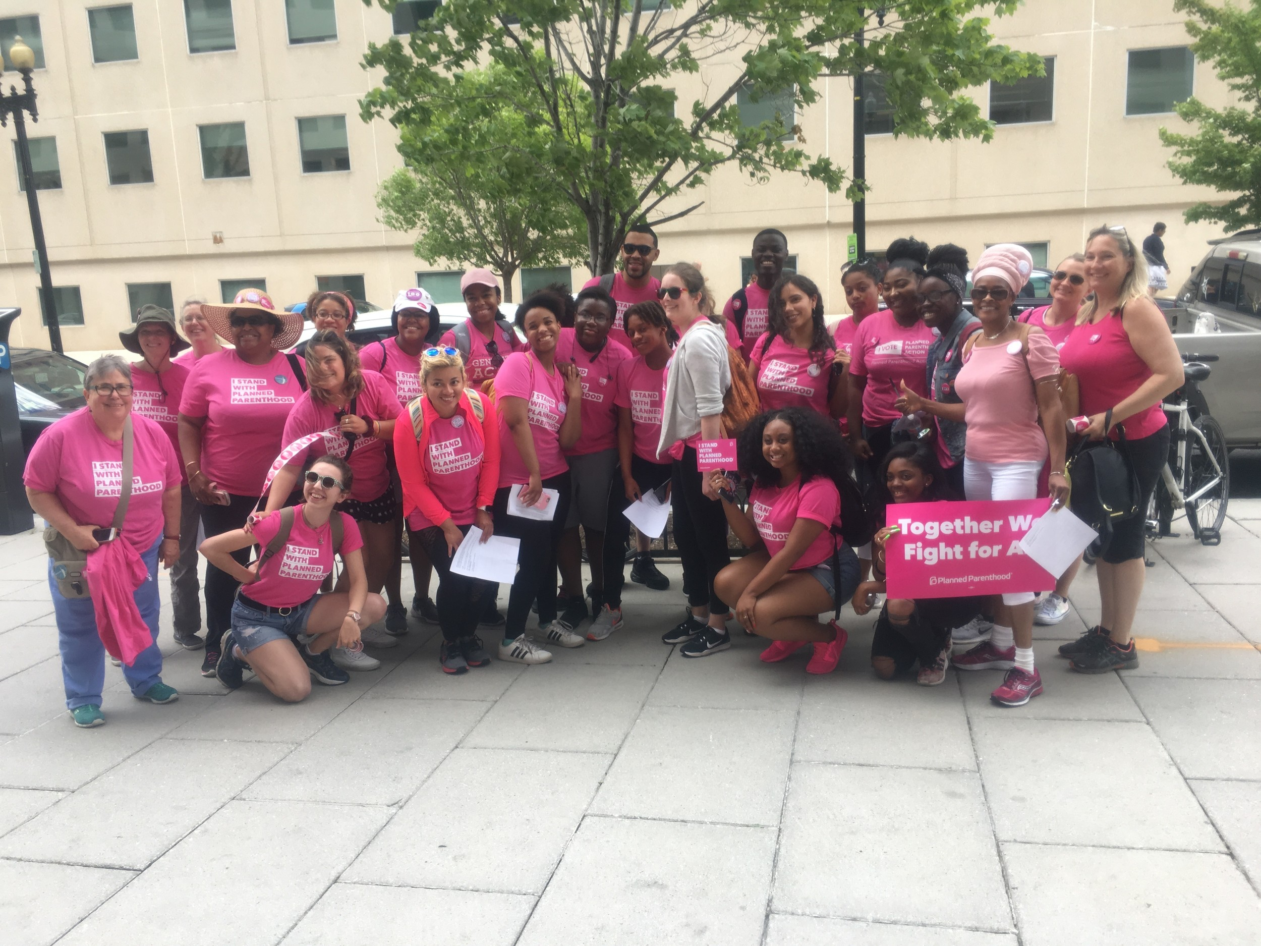 Volunteers for Planned Parenthood of Nassau County took a bus to Washington, D.C. to join the demonstrations.