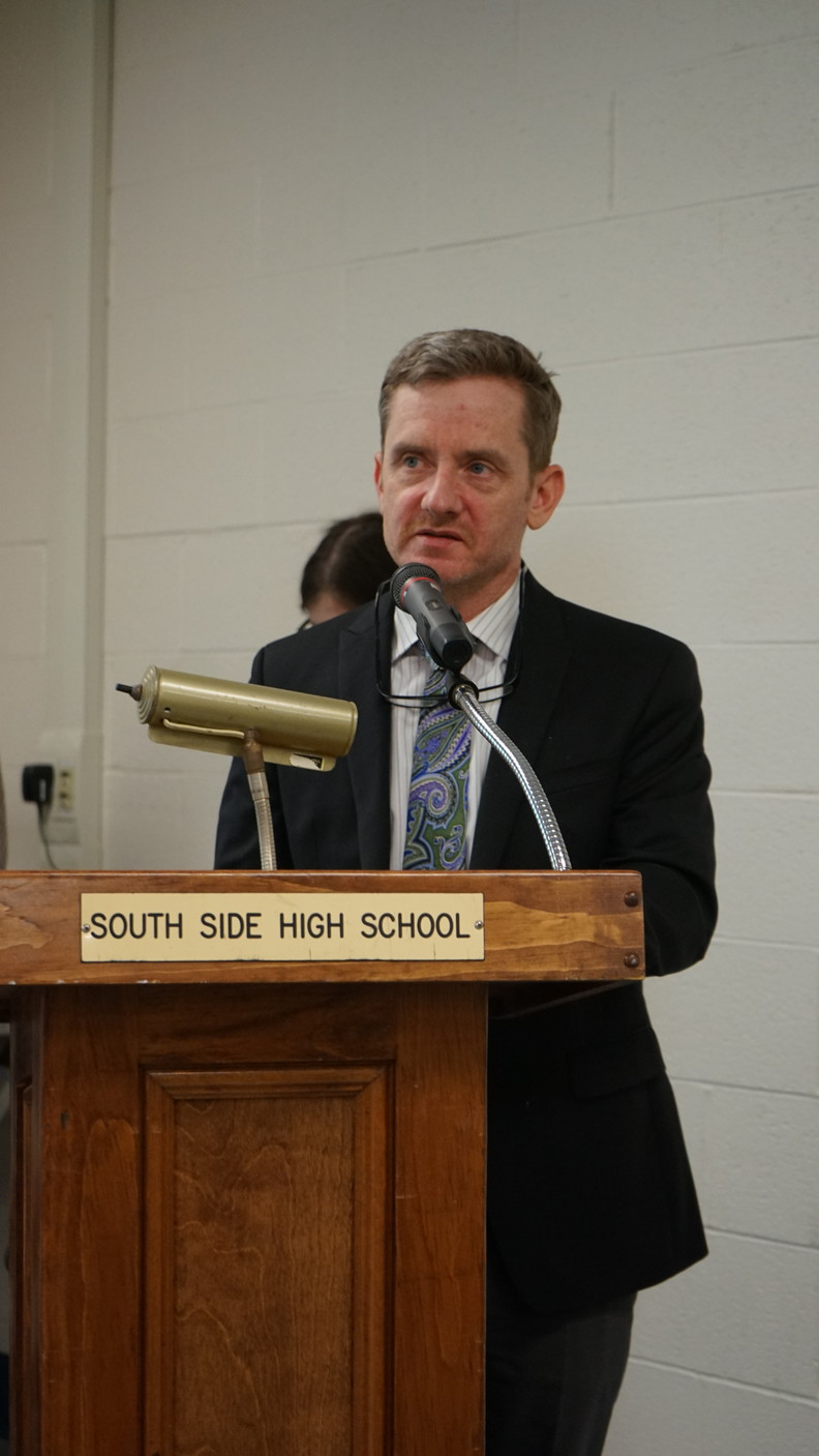 South Side High School Principal John Murphy, pictured, is among the many critics of Common Core geometry Regents.
