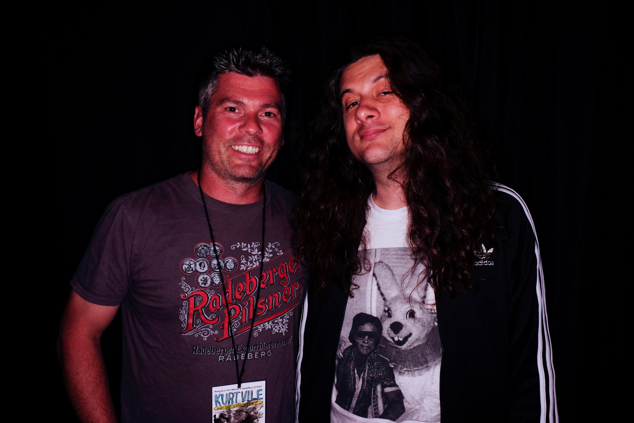 Martin Brull, left, co-founder of the Tommy Brull Foundation, which organized the Shine A Light Music Series show on June 23, with this year's headliner, Kurt Vile.