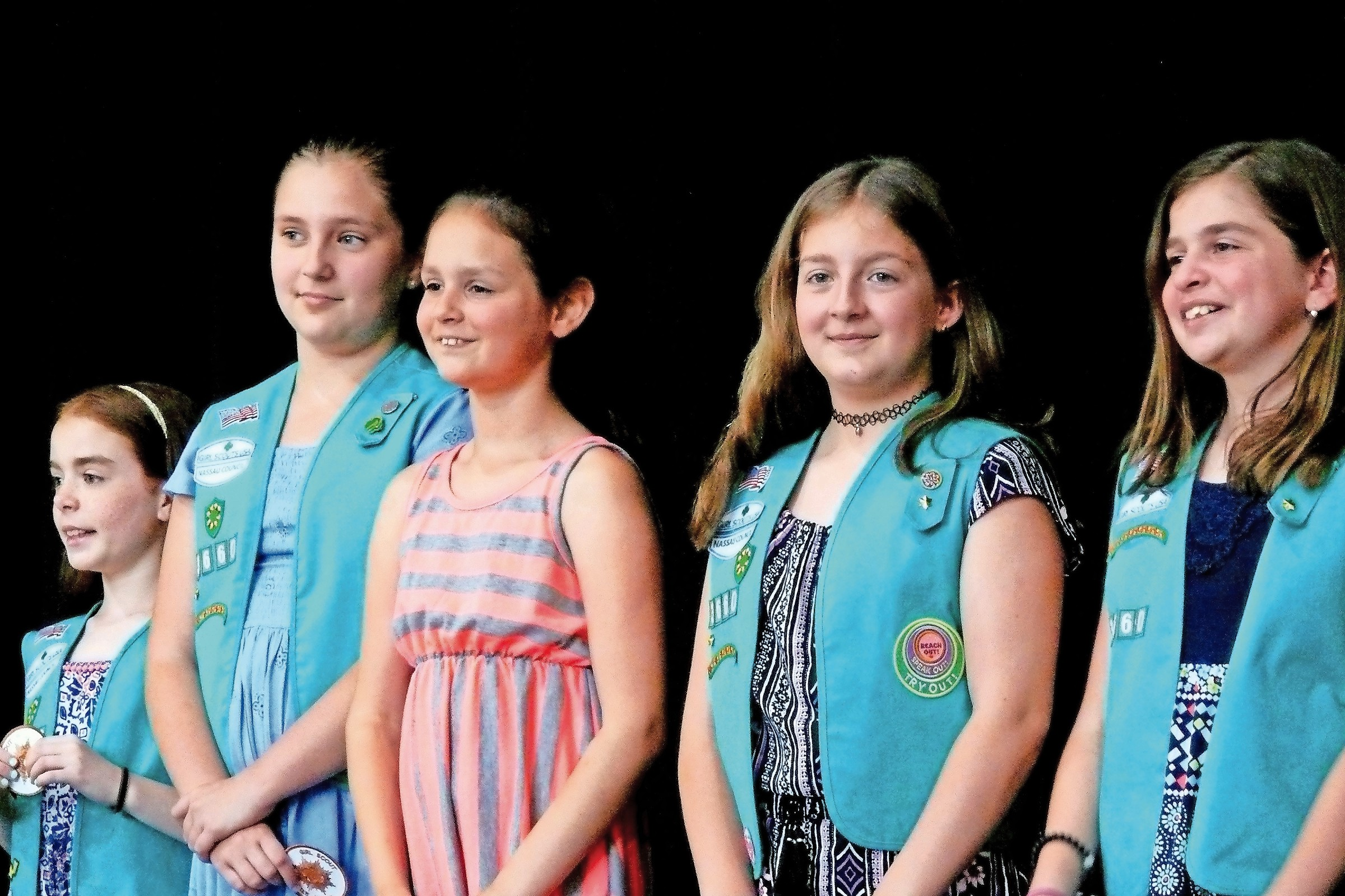 Bronze Award winners from Troop 3660 prepared to take a bow.