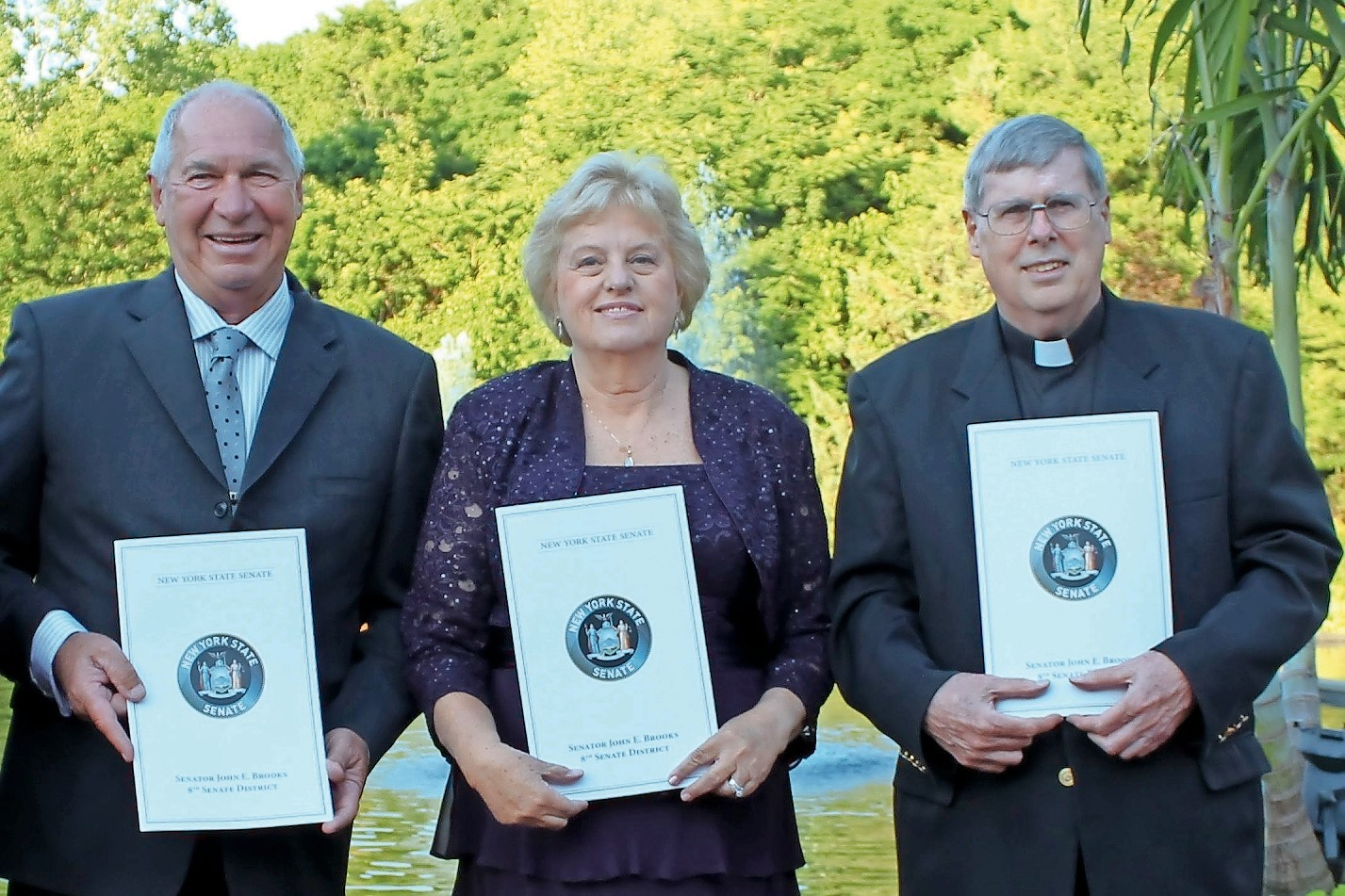 William Sims, left, Barbara Richko and the Rev. Robert Hayden won the Honorary Patriot Award.