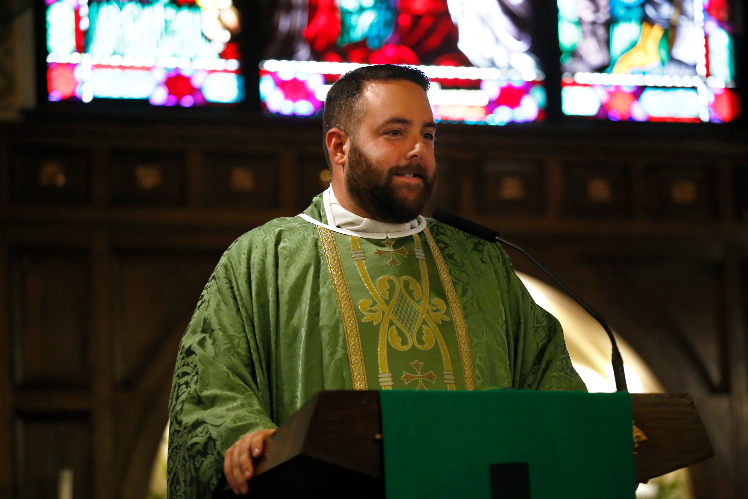 The Rev. Michael Duffy, of Our Lady of Lourdes Church, in Malverne, began his tenure at the parish in 2017.
