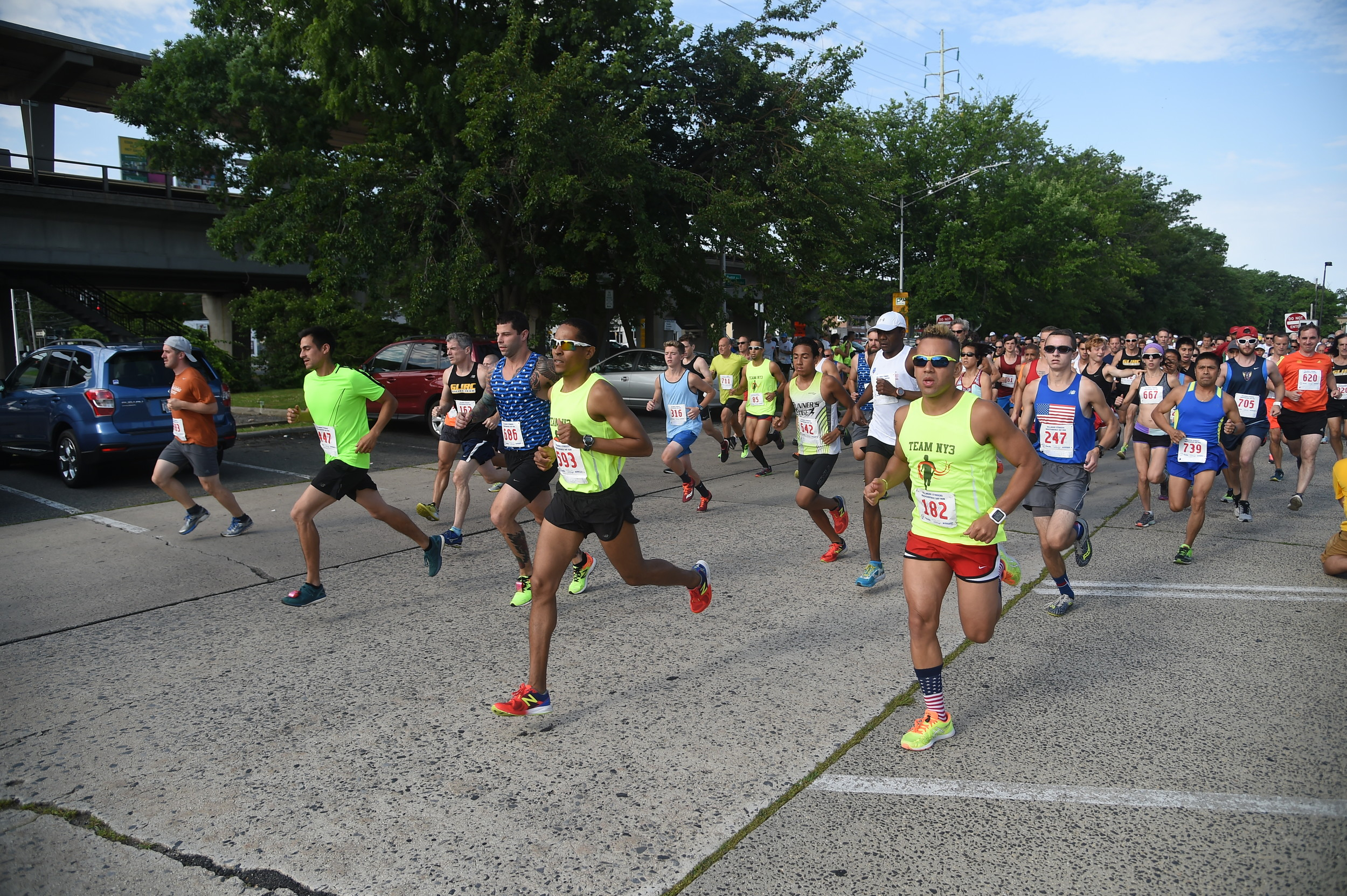 Hundreds of runners from near and far took part in the 35th annual Bellmore Striders Independence Day run.