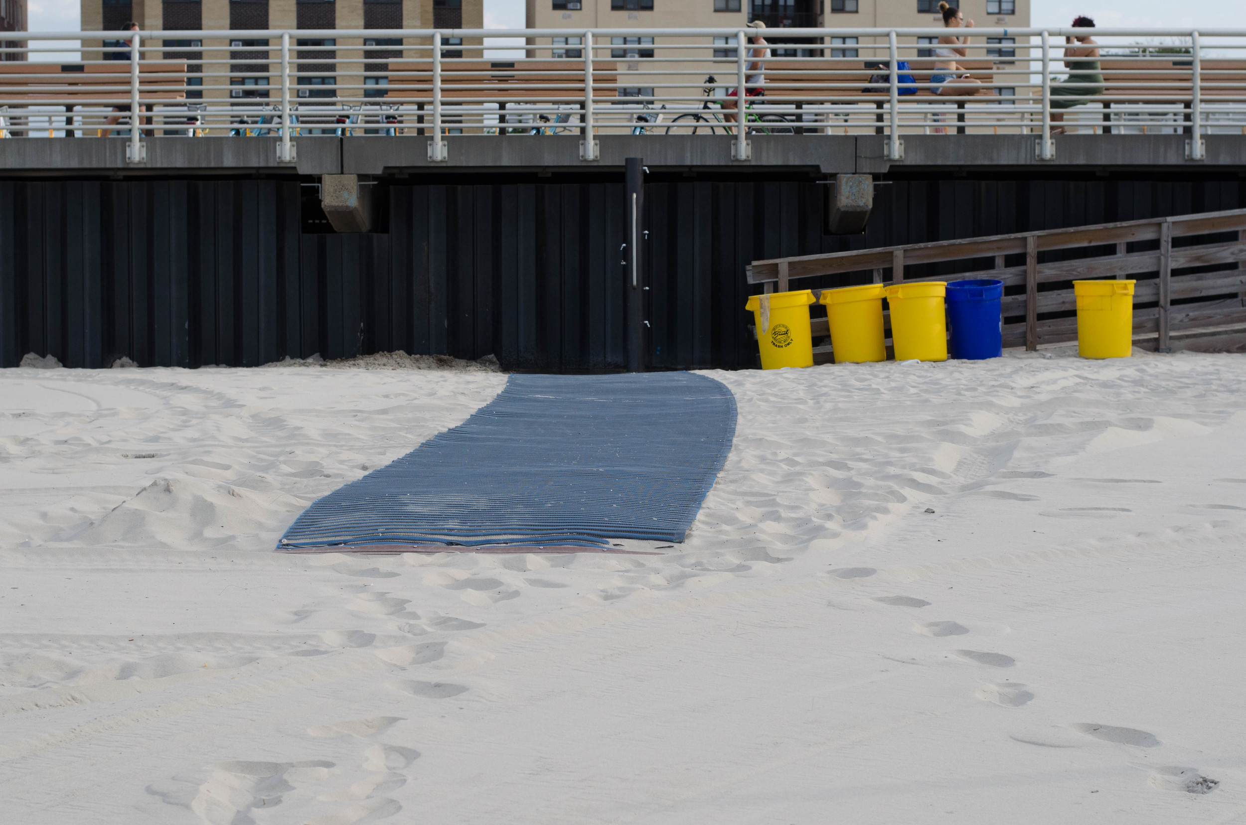 Mobi-Mats that are being used on the beaches in Long Beach, could be considered for the eight Atlantic Beach village beaches.