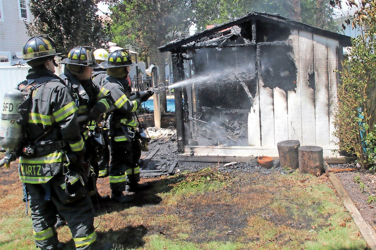 Seaford firefighters battled a shed fire on Illona Lane on July 8. A 71-year-old man was found dead in the remains.