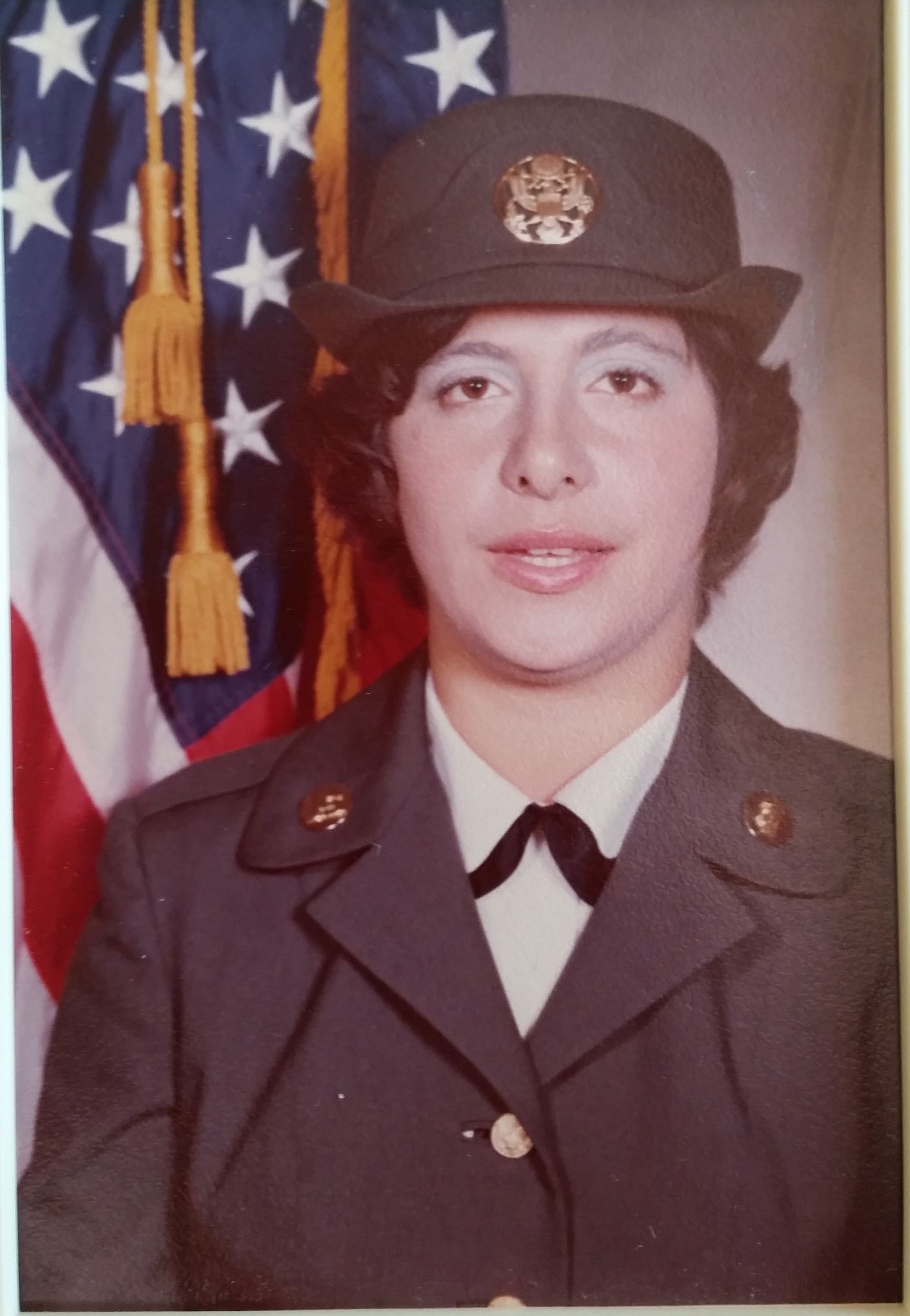 Stephanie rossetti's army photo from Oct. 16, 1974.