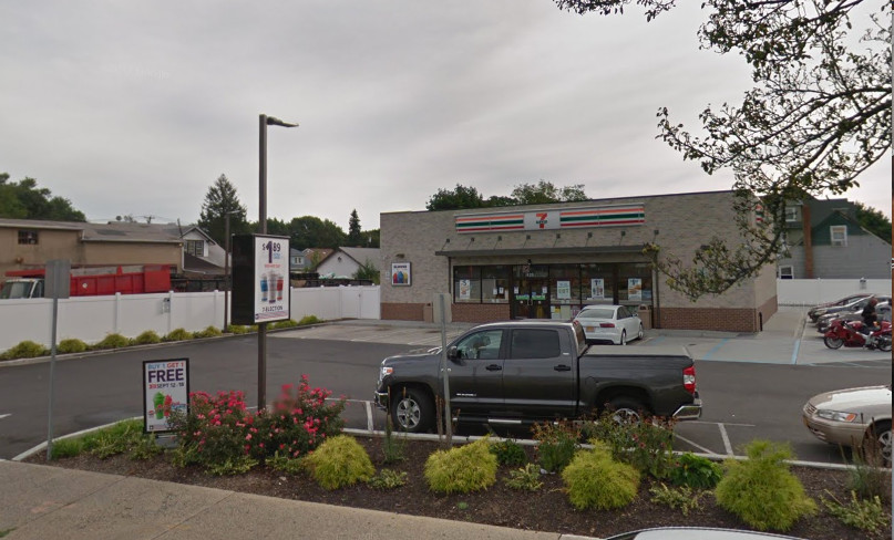 On Nassau Road in Roosevelt near this 7-Eleven, police arrested Ethan Johnson of Laurelton, Queens. He was charged for a rash of thefts involving vehicles on Long Island.