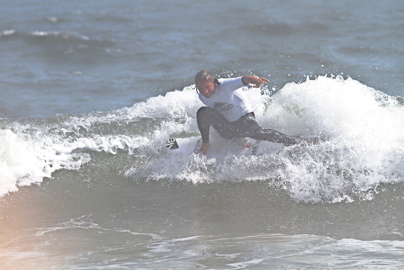 Pro surfer TJ Gumiela at last year's NYSEA Open Surf Contest.