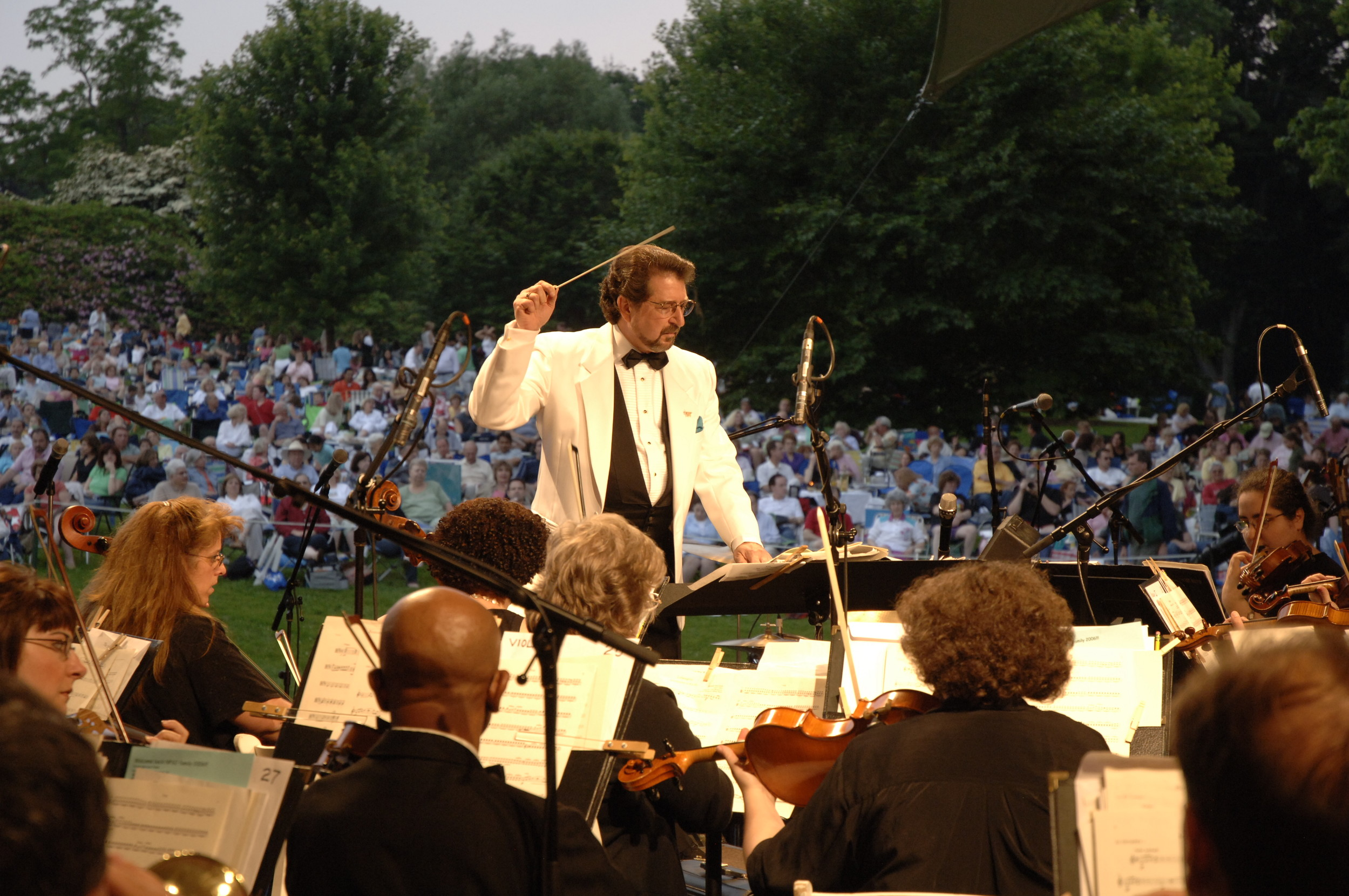 The Nassau Pops performs in Lynbrook on Friday as part of its summer concert season.