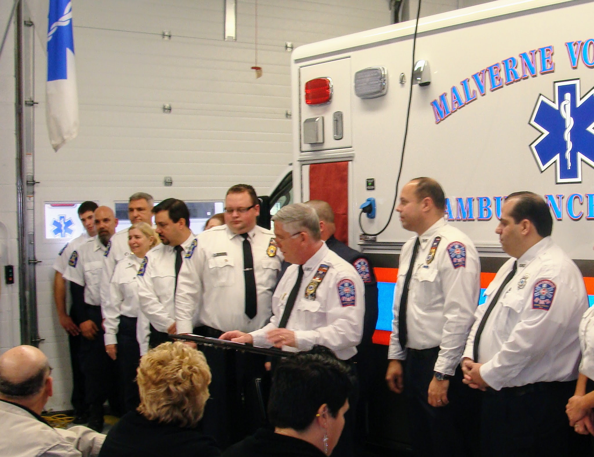 Members of the Malverne Volunteer Ambulance Corps at a new ambulance dedication ceremony in 2013.