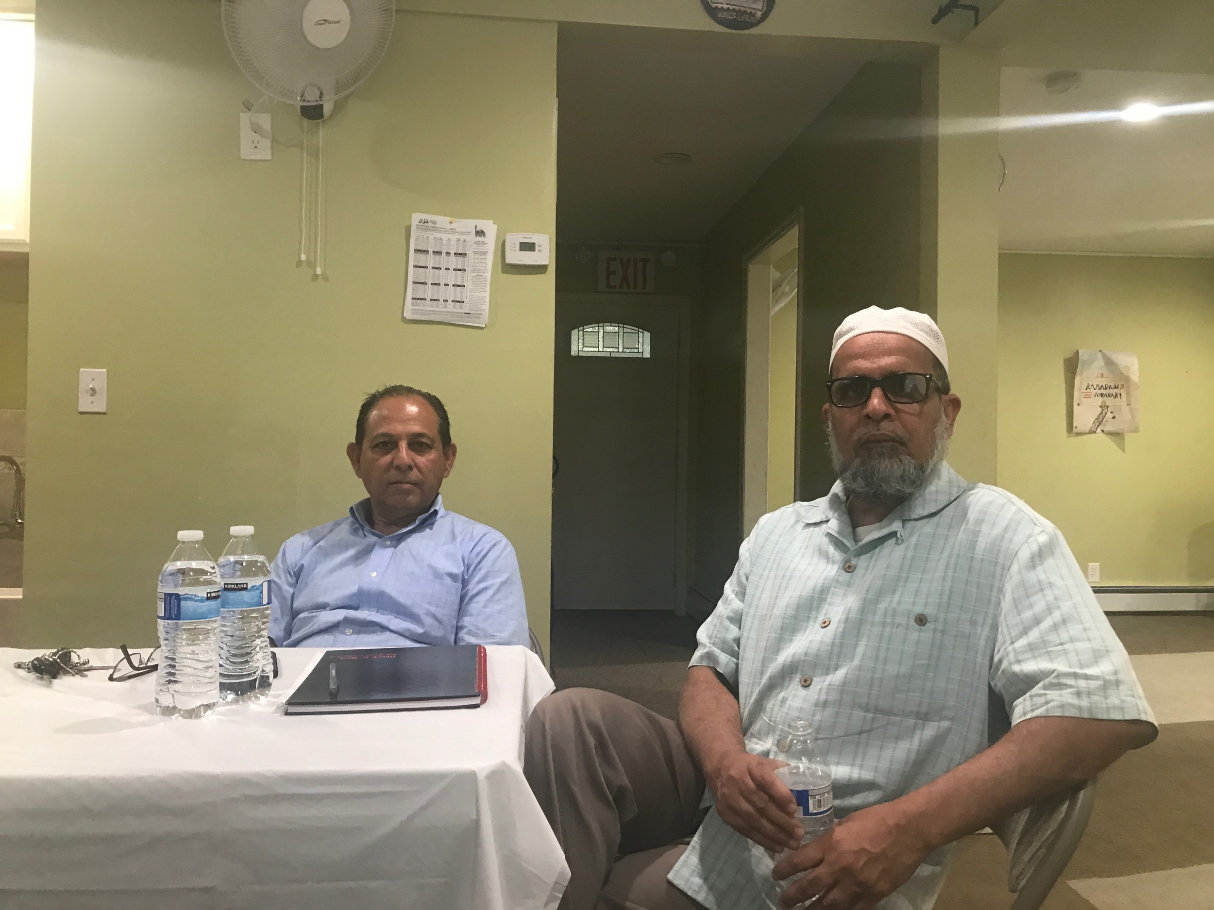 The Islamic Center of Five Towns was established in 2006 by Tanvir Ahmad, left, and Eqbal Rasheed.