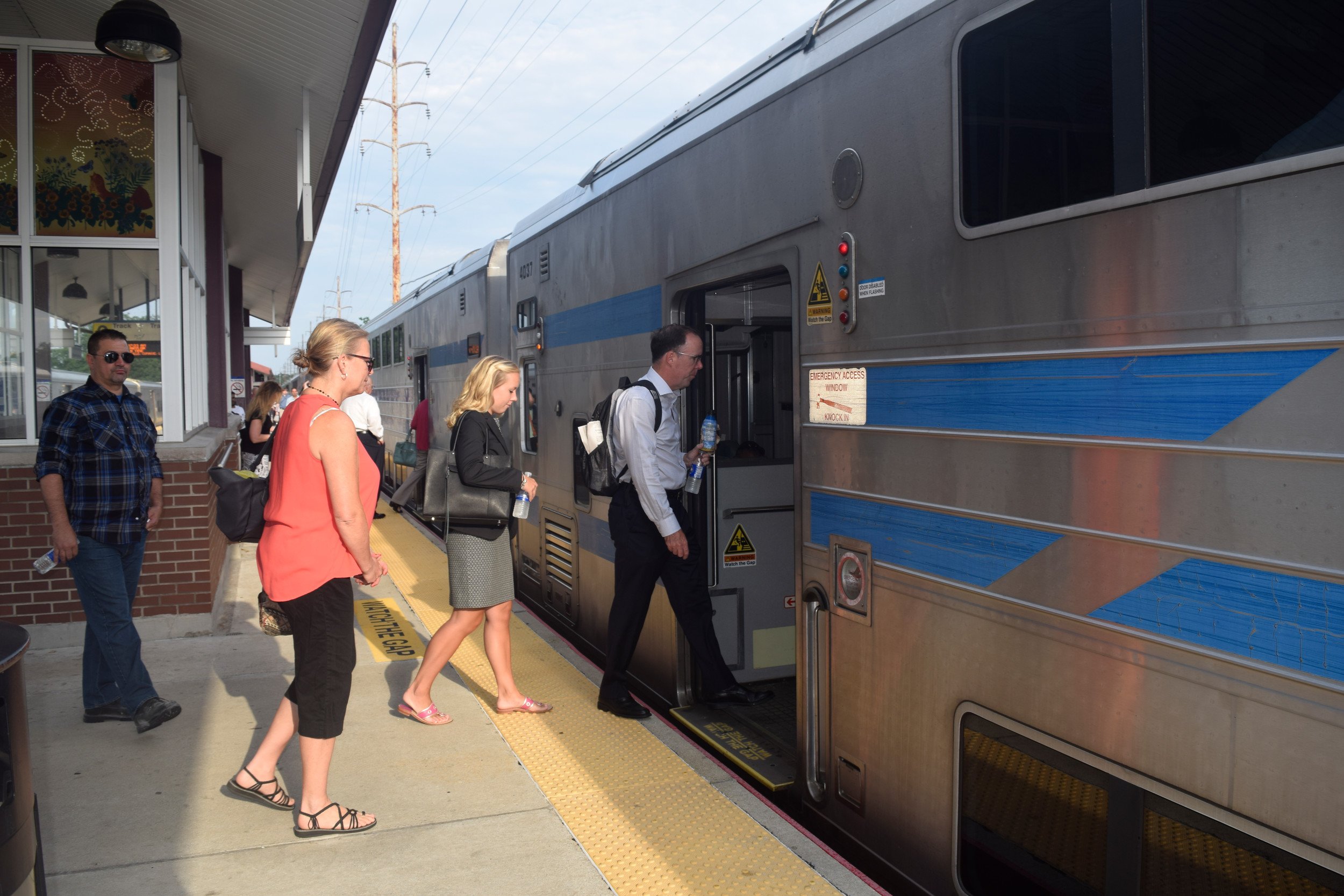 At the Seaford train station last week, commuters said that Long Island Rail Road trains have arrived on time since schedules changed.