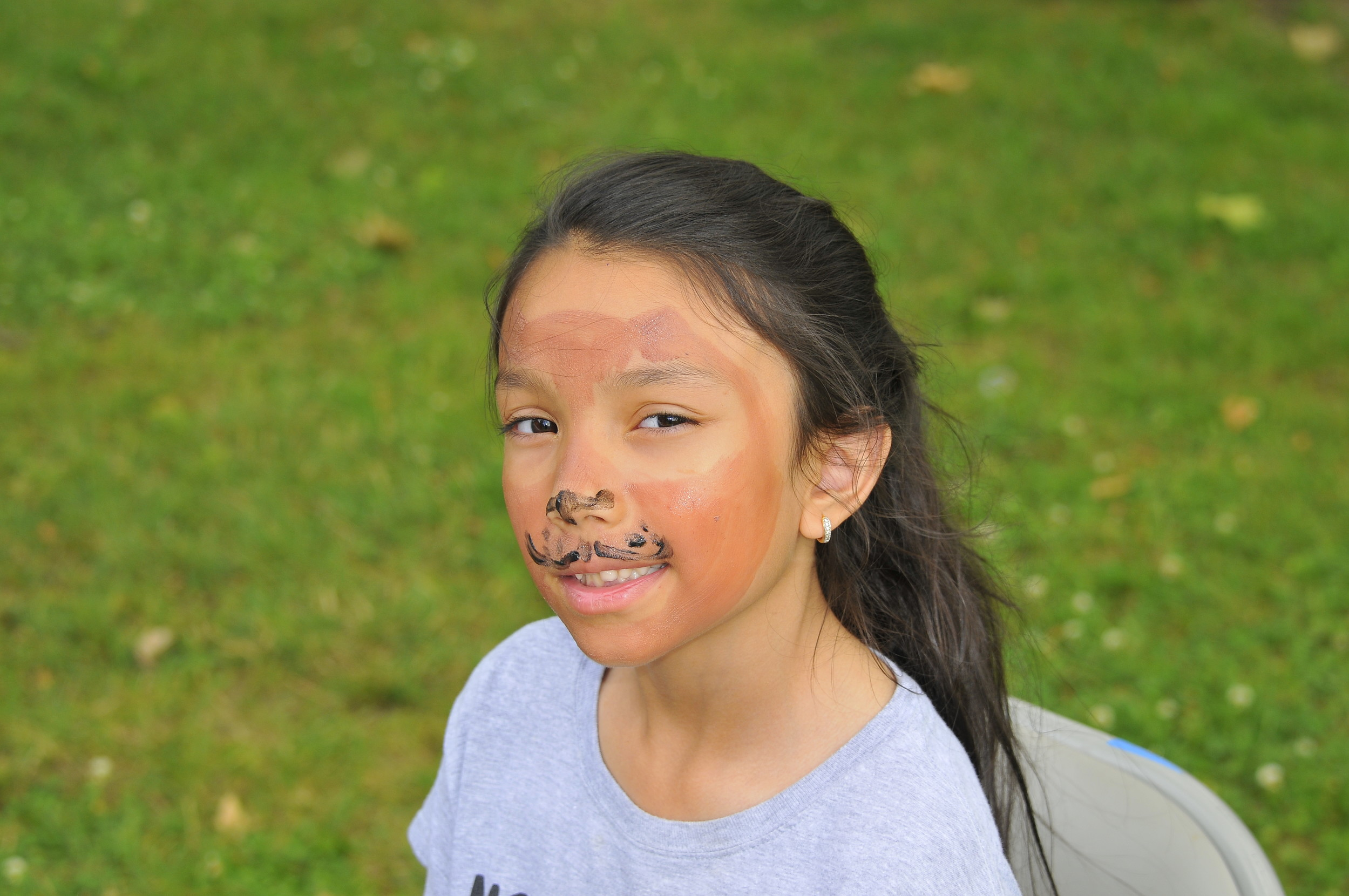 Victoria Lambriola, 8, got her face painted at the celebration.