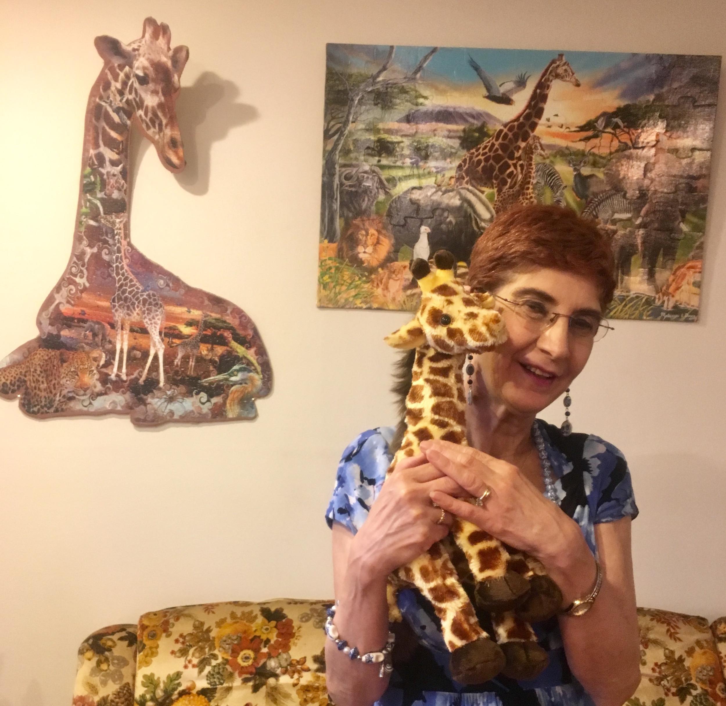 Renée Susman, 63, of Wantagh, has collected more than 500 giraffe-themed items.