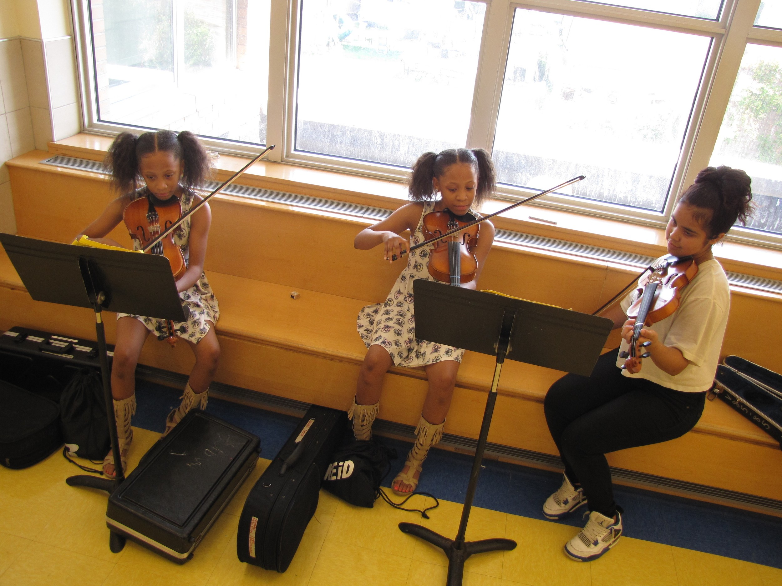 During the Summer Academy of the Arts students were allotted extra one-on-one help to practice their instruments.
