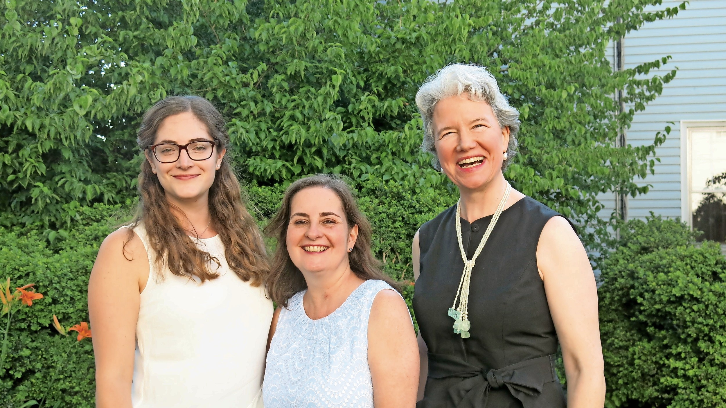 Jessica Pearl, Theresa Skvarla and Harriet Gerard Clark, of Raynham Hall, were pleased with the attendance at the reception.
