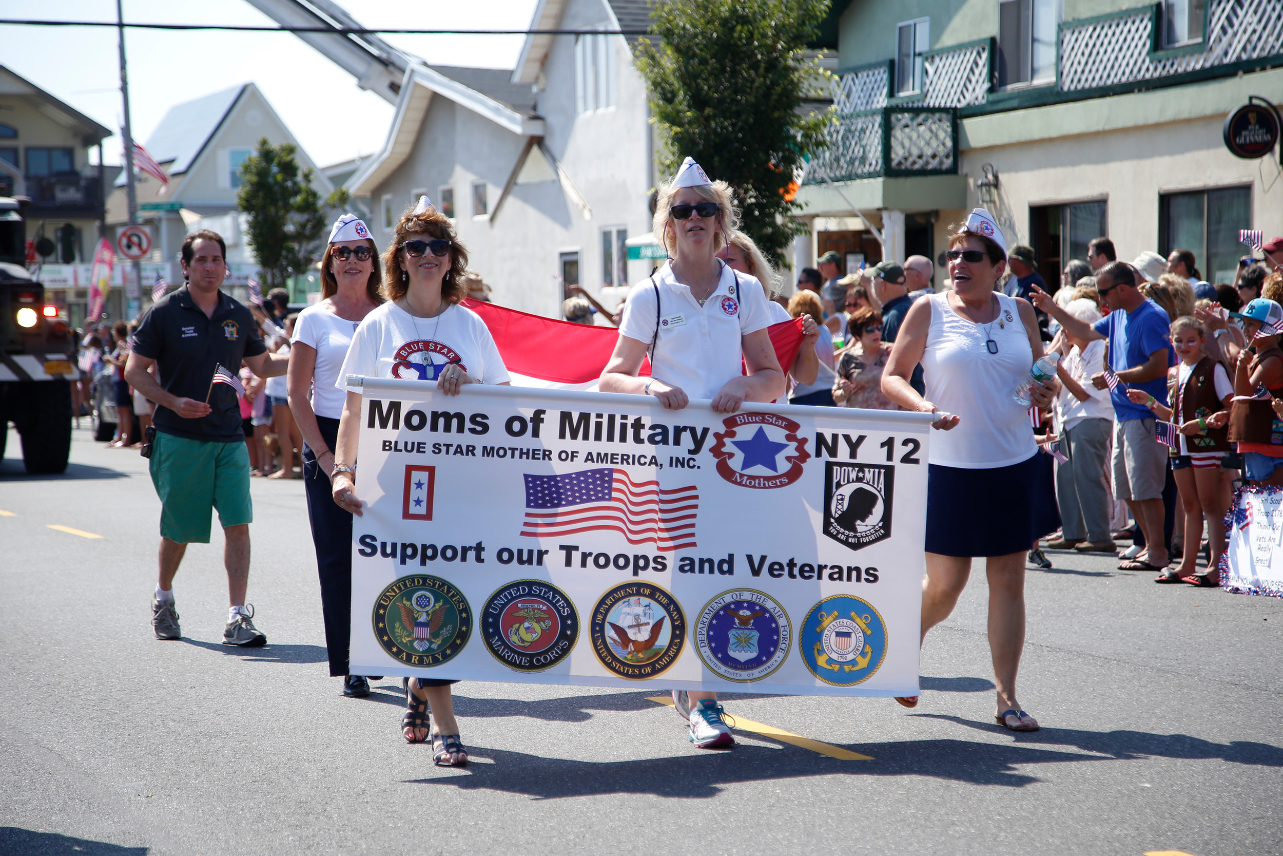 The Blue Star Mothers of America were among the many organizations that marched in the parade.
