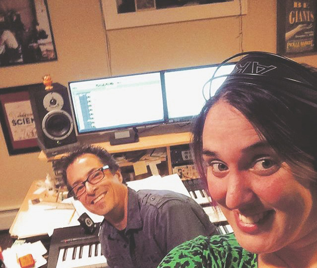 Red Pants Band members Danny Weinkauf, left, and Tina Kenny Jones recently finished recording the band's latest effort, 'Totally Osome!,' which is set for release on Aug. 11.