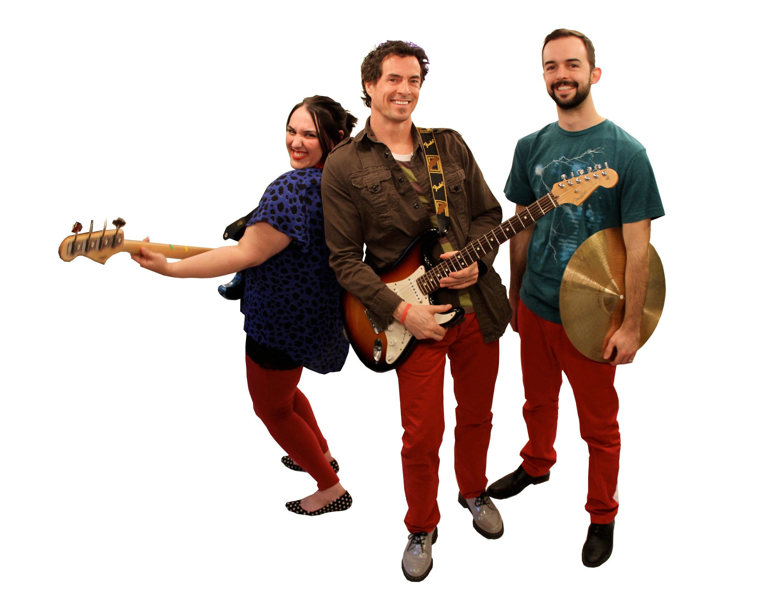 Frontman Danny Weinkauf, center, and his Red Pants band members Tina Kenny Jones (vocals, bass) and Steve Plesnarski (drums) are set to release their third album.