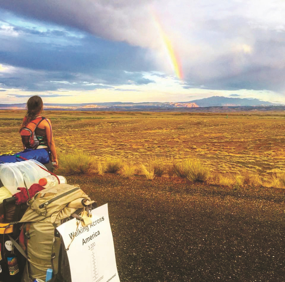 Abby Bongaarts enjoyed a beautiful view shortly after she and Daniel Finnegan, of Rockville Centre, entered Utah on July 14.
