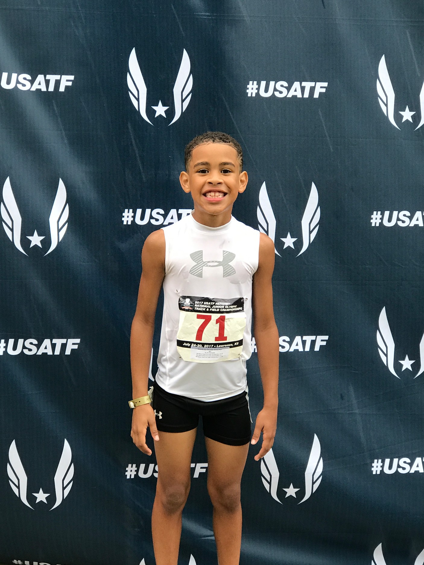 Jace Richards of Malverne competed in the USATF Hershey National Junior Olympics in Kansas last week.