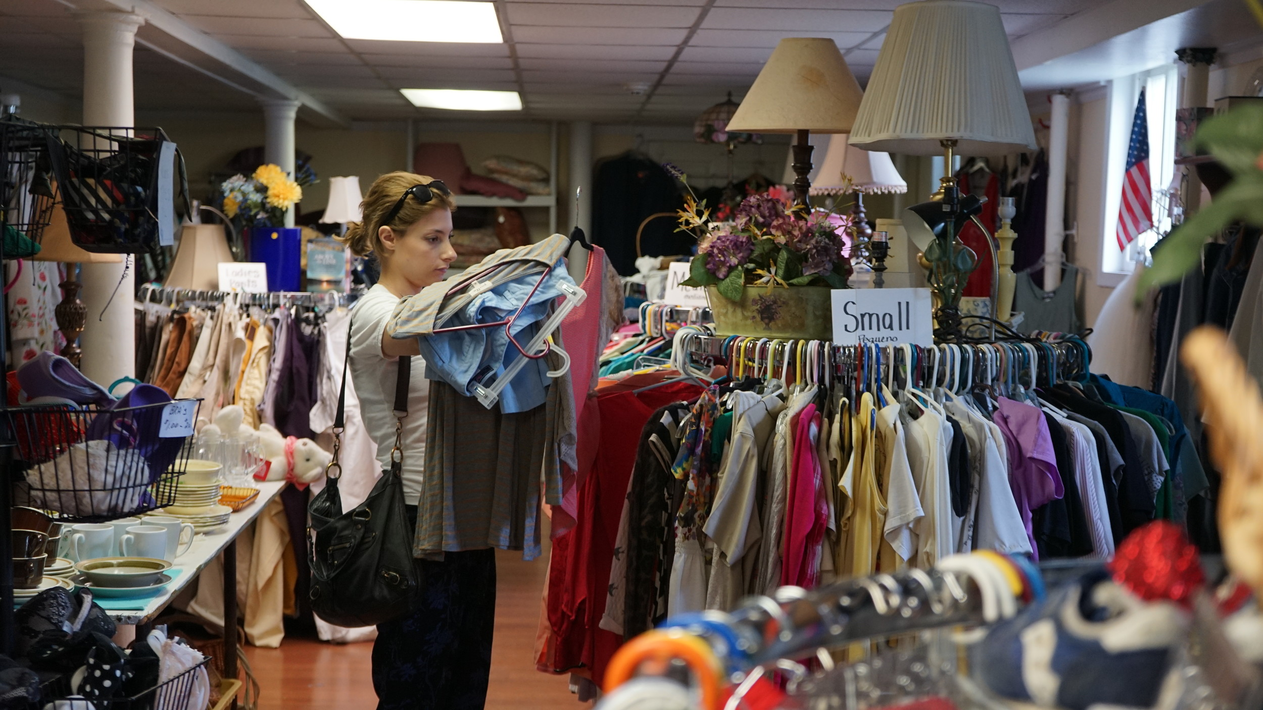 A customer browsed for treasures at the church's thrift store.