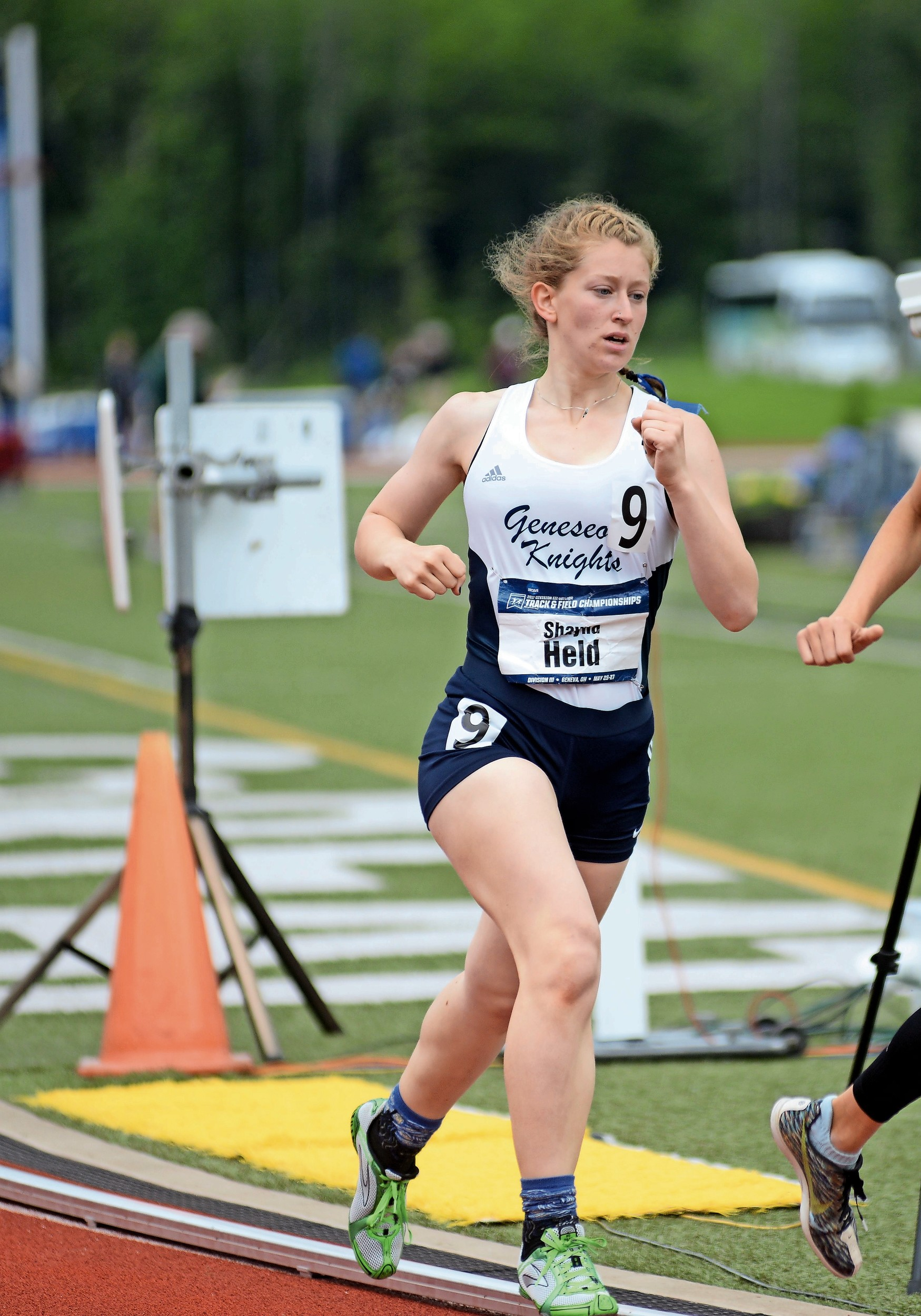 Shayna Held, 19, ran for SUNY Geneseo at the NCAA Division III Outdoor Track and Field Championships on May 25.