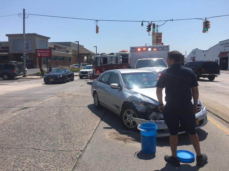 The Long Beach Fire Department responded to a two-car collision at the intersection of East Pine Street and Long Beach Boulevard on Thursday.