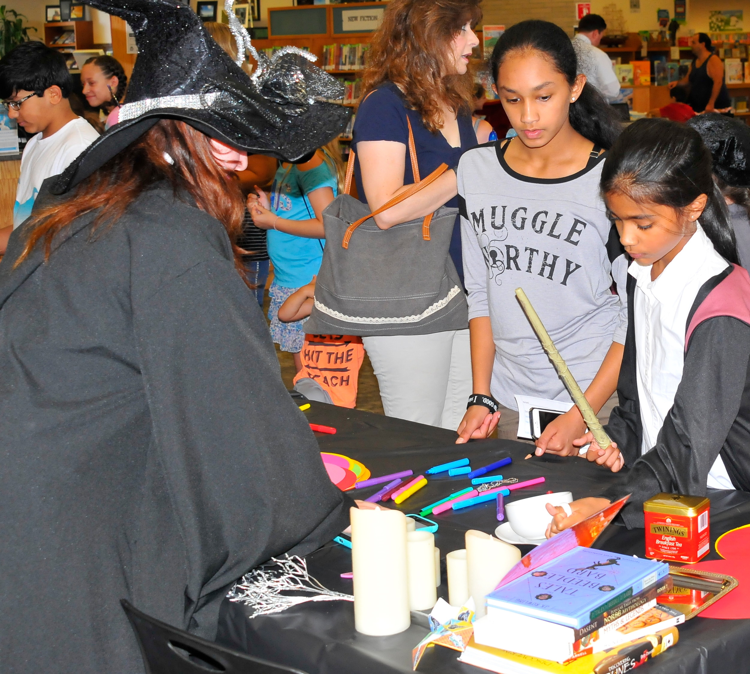 The library's potion making class was a hit among teens who spent several hours concocting the perfect potion.