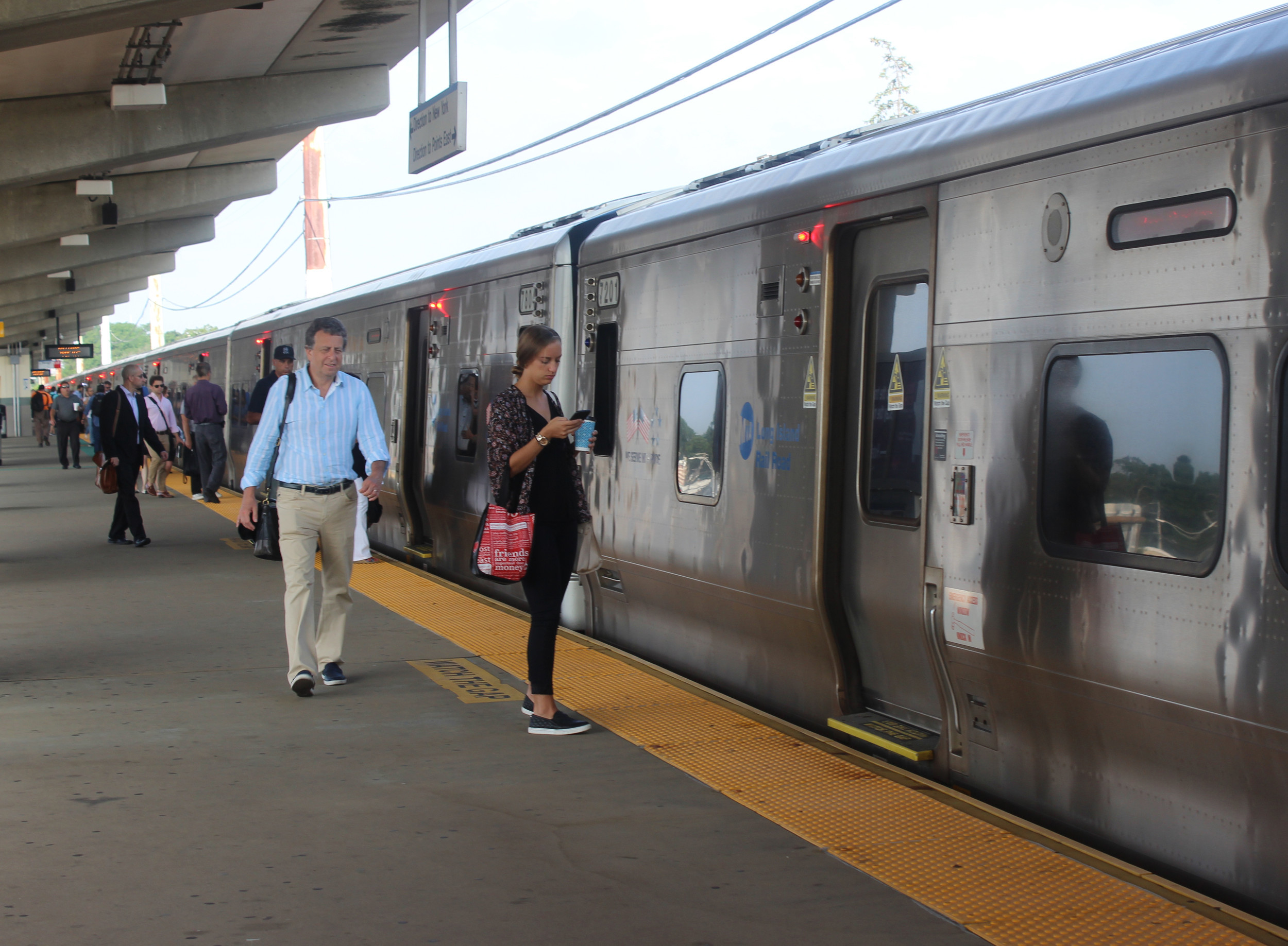 Commuters at the Bellmore LIRR station said they were unfazed by the schedule changes necessitated by the infrastructure improvement project at Penn Station, but remain cautious.