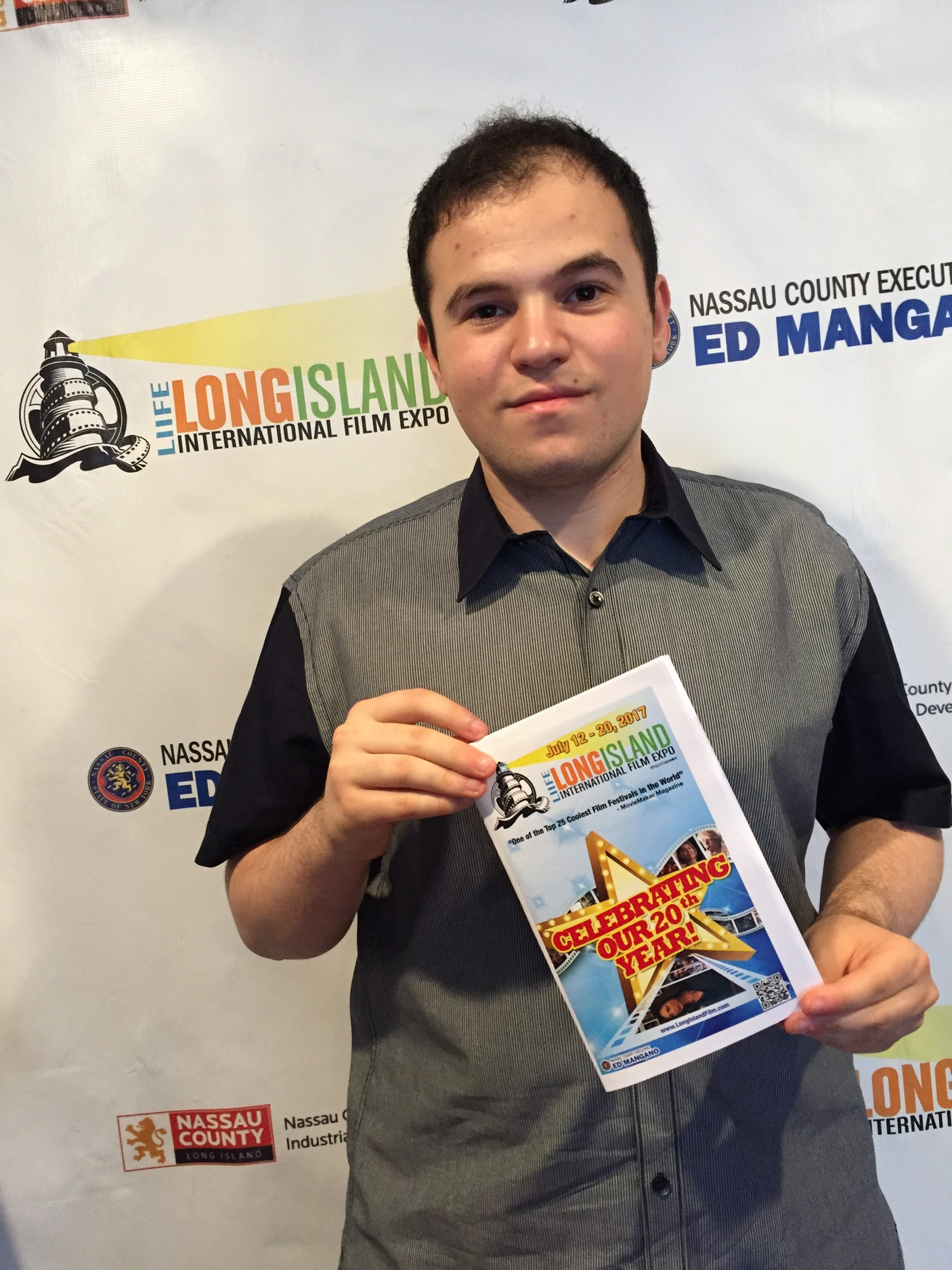 Max Hechtman at the Long Island International Film Expo.