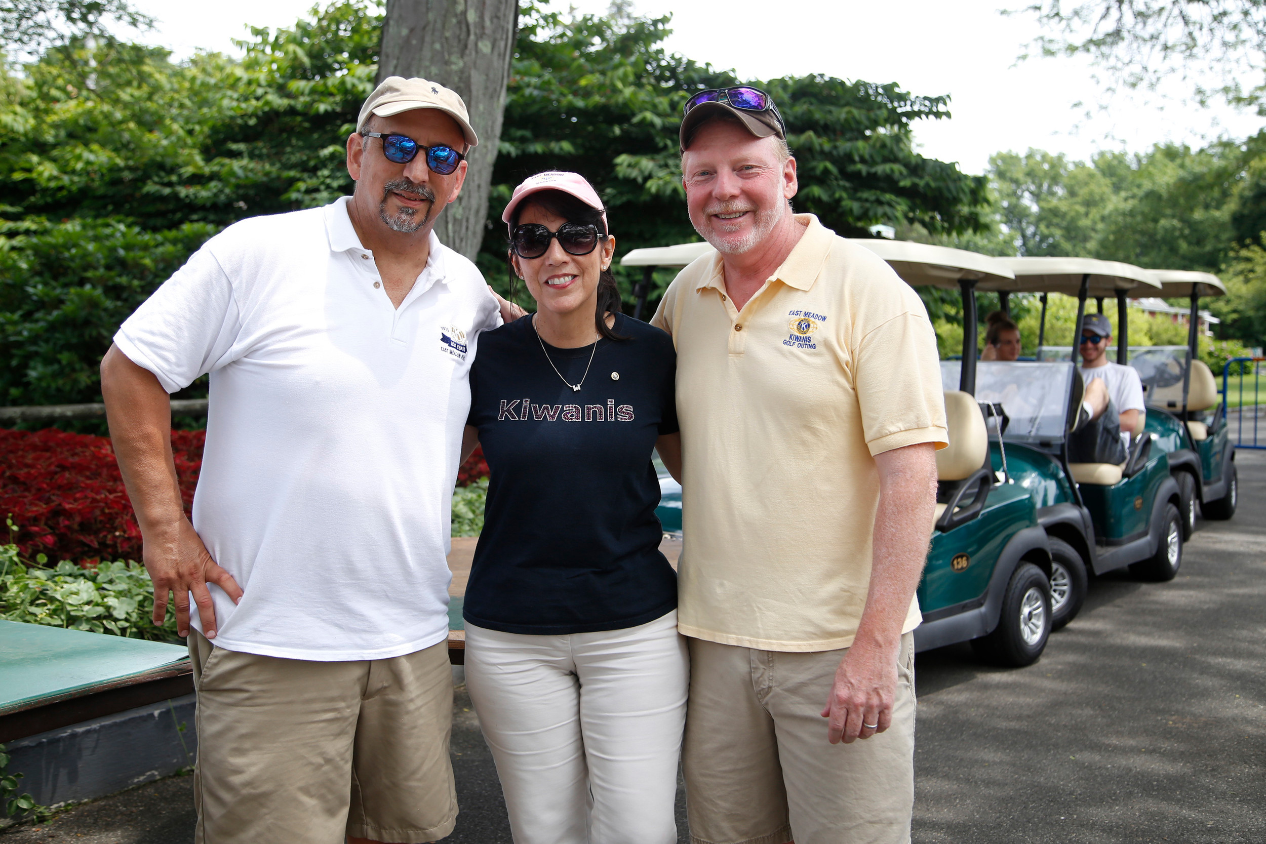The Annual Steven J. Eisman Memorial Golf Outing organizers Alan Beinhacker, Debbie Coates and Mike Litzner welcomed guests as they arrived on July 17.