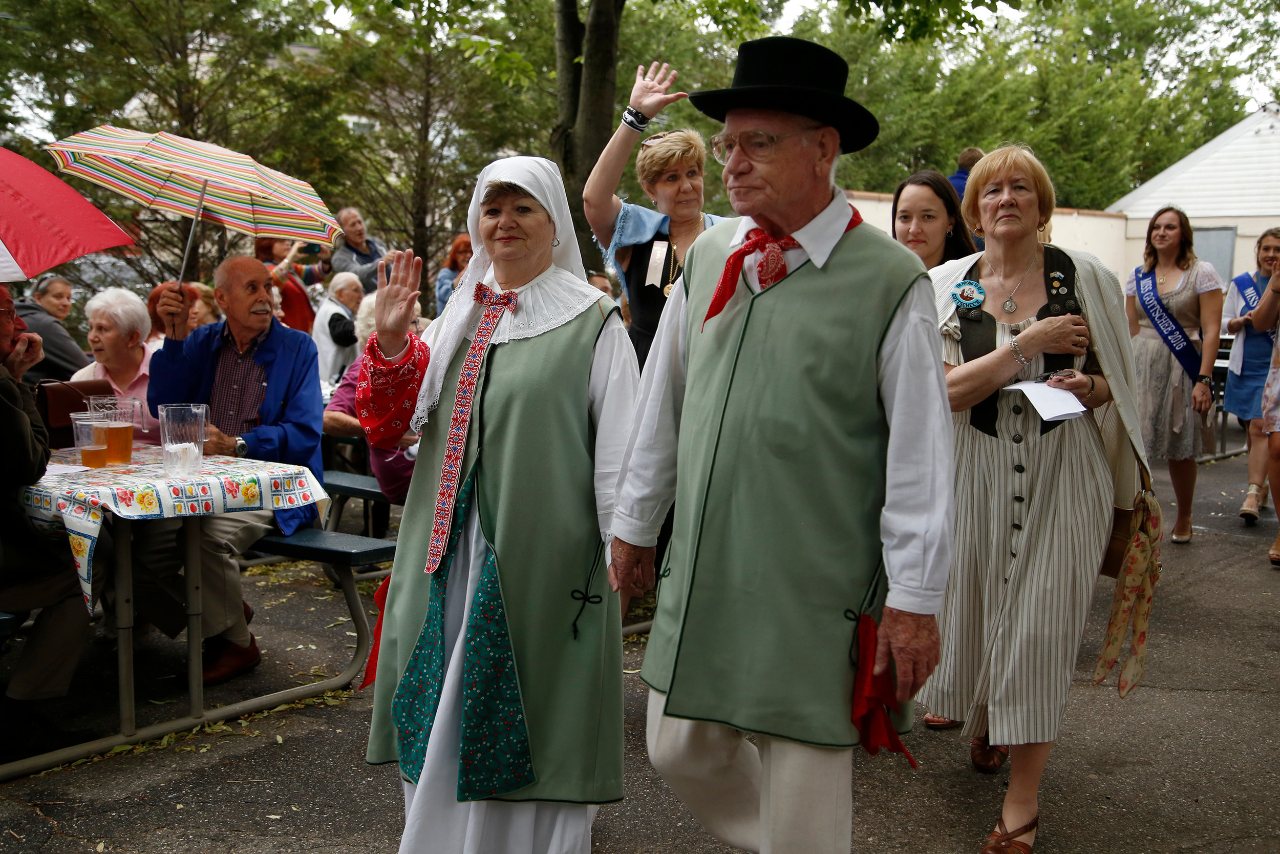 Participants took part in full German garb in the 71st annual Gottscheer Volkfest parade at the Plattduetsche Park Restaurant in Franklin Square on June 4.