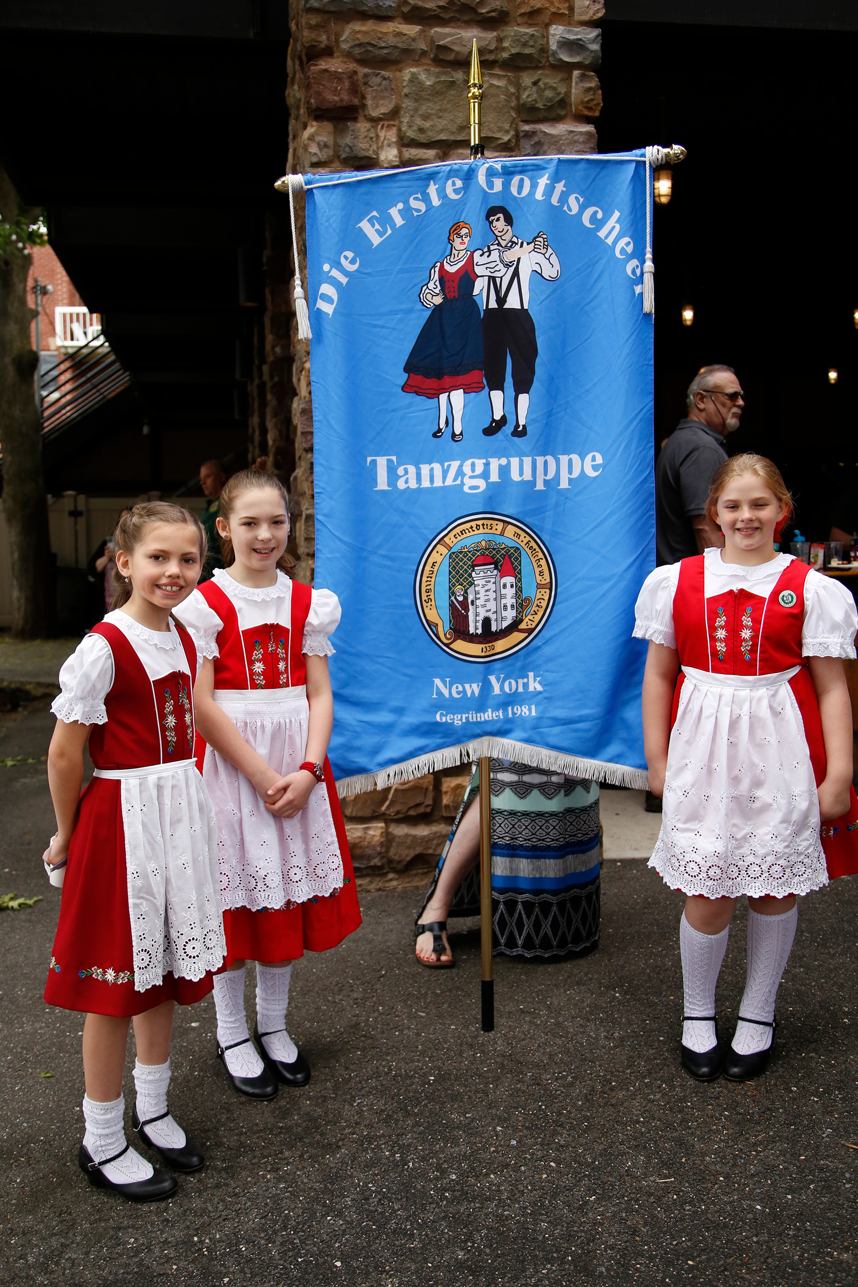 Young dancers Monika Schemitsch, Anya Barritsch and Katie Karacsony took part in the cultural festivities.