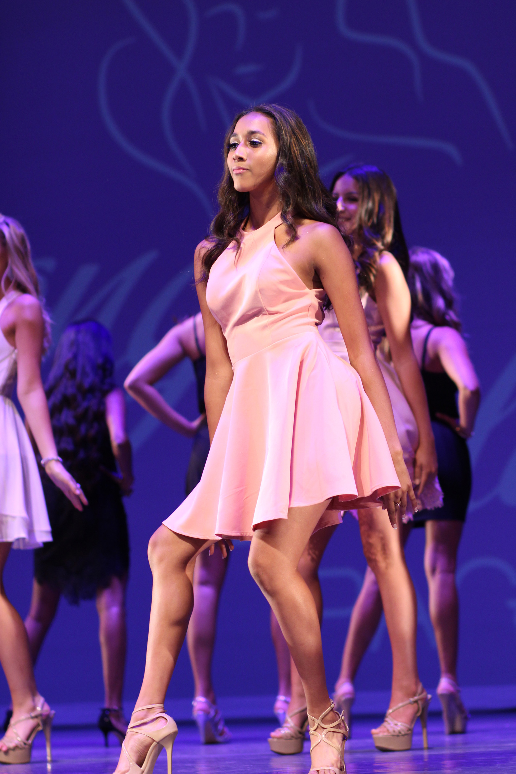 Neila Kalipersad, 14, of East Meadow, during the opening dance number.
