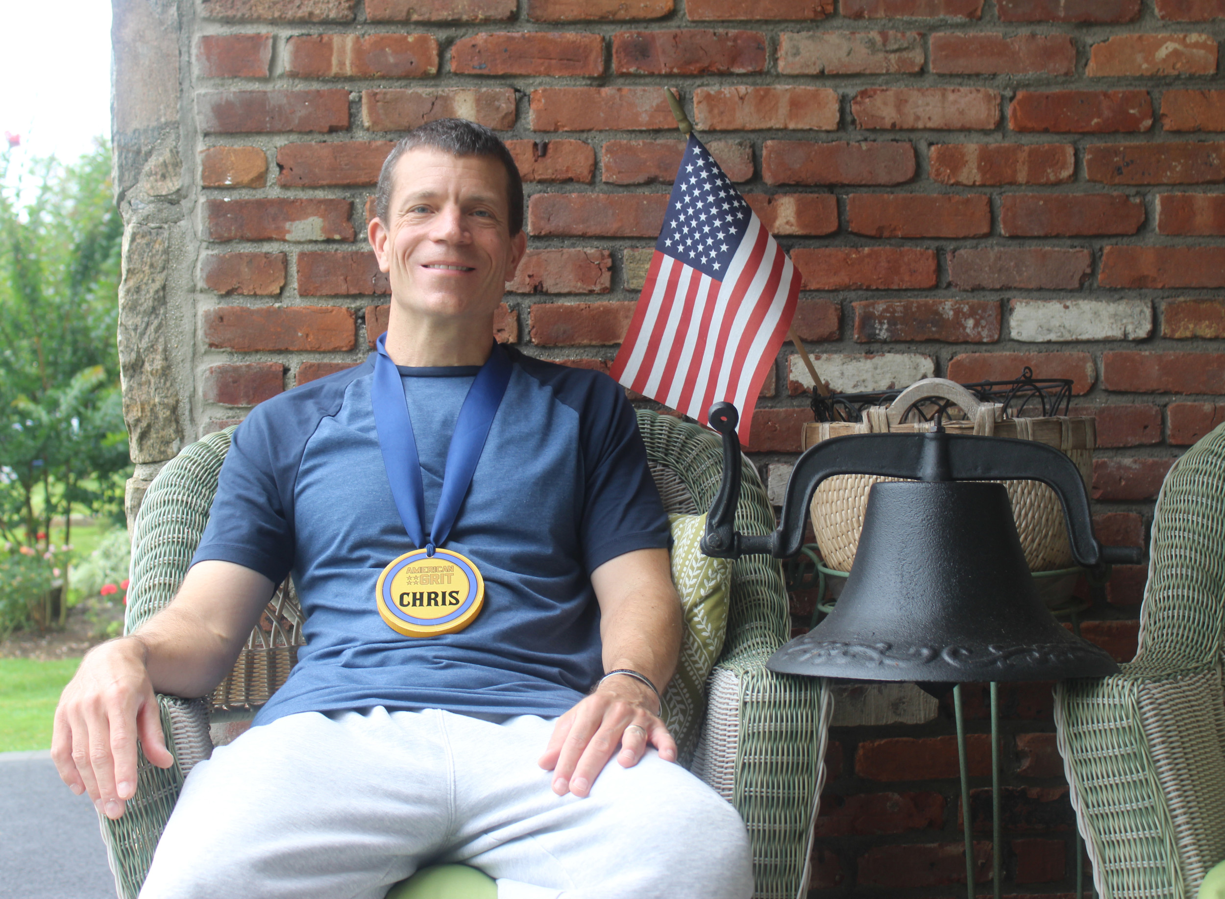 "Lifelong Merrick resident Chris Eadom, 48, was a finalist on the military-themed reality show, ""American Grit."""