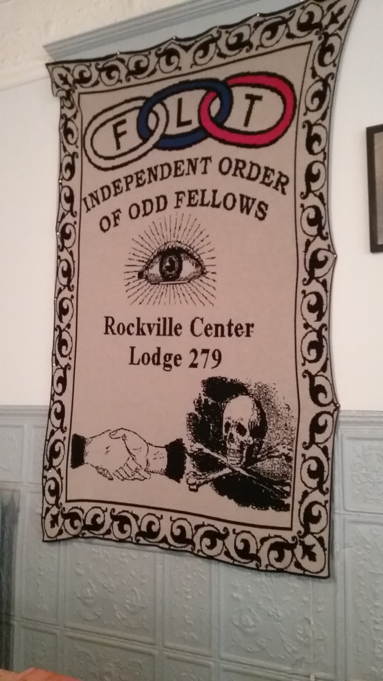 A blanket made for the local Odd Fellows by an upstate New York lodge.