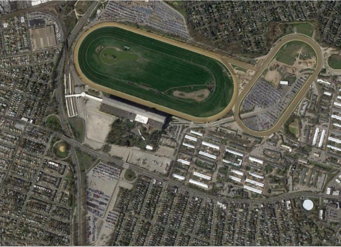 The Empire State Development Corp. opened the bidding process, or Request For Proposals period, for redevelopment of this area of property at Belmont Park in Elmont. The winning bidder would redevelop about 43 acres.