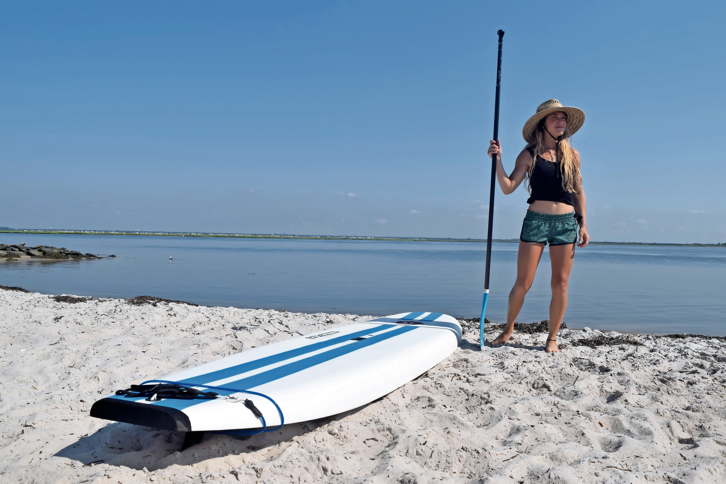 Hanono, 30, has been a certified paddleboard instructor for five years.