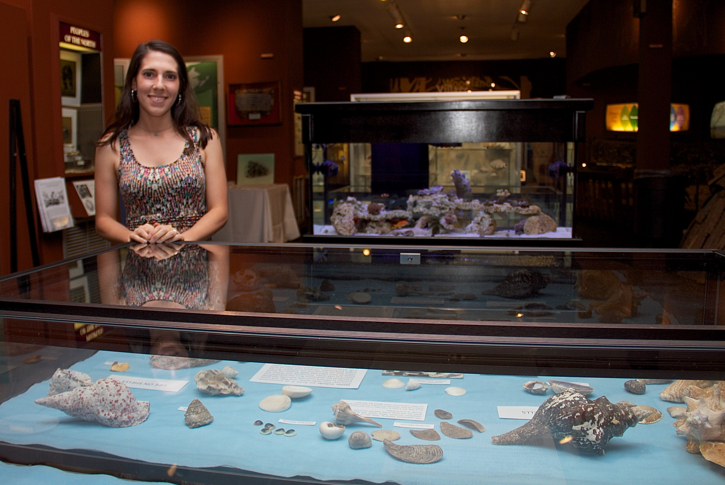 Garvies Point Museum and Preserve welcomes visitors to its new exhibit, showcasing some beautiful delights from the sea.  Museum supervisor Veronica Natale says that each seashell has its own unique quality.