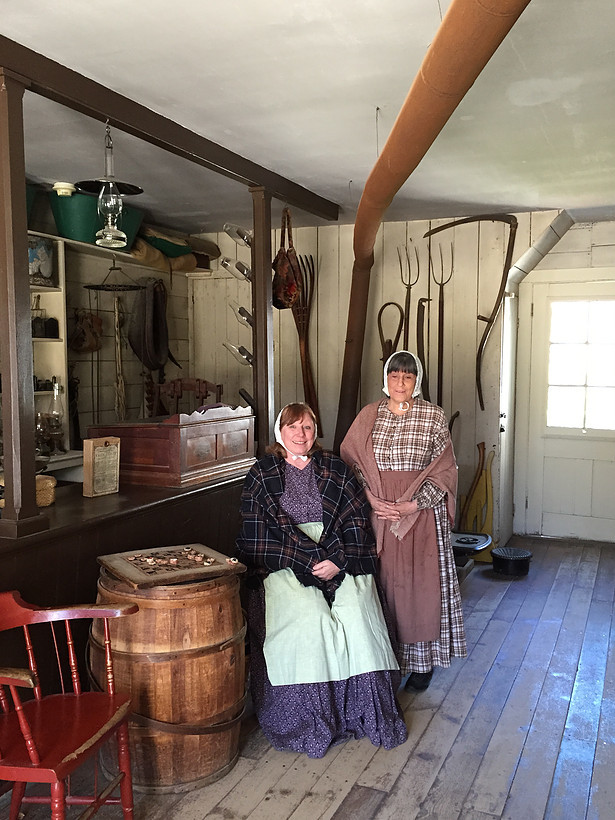 Old Bethpage Village townsfolk demonstrate 19th century trades this weekend.