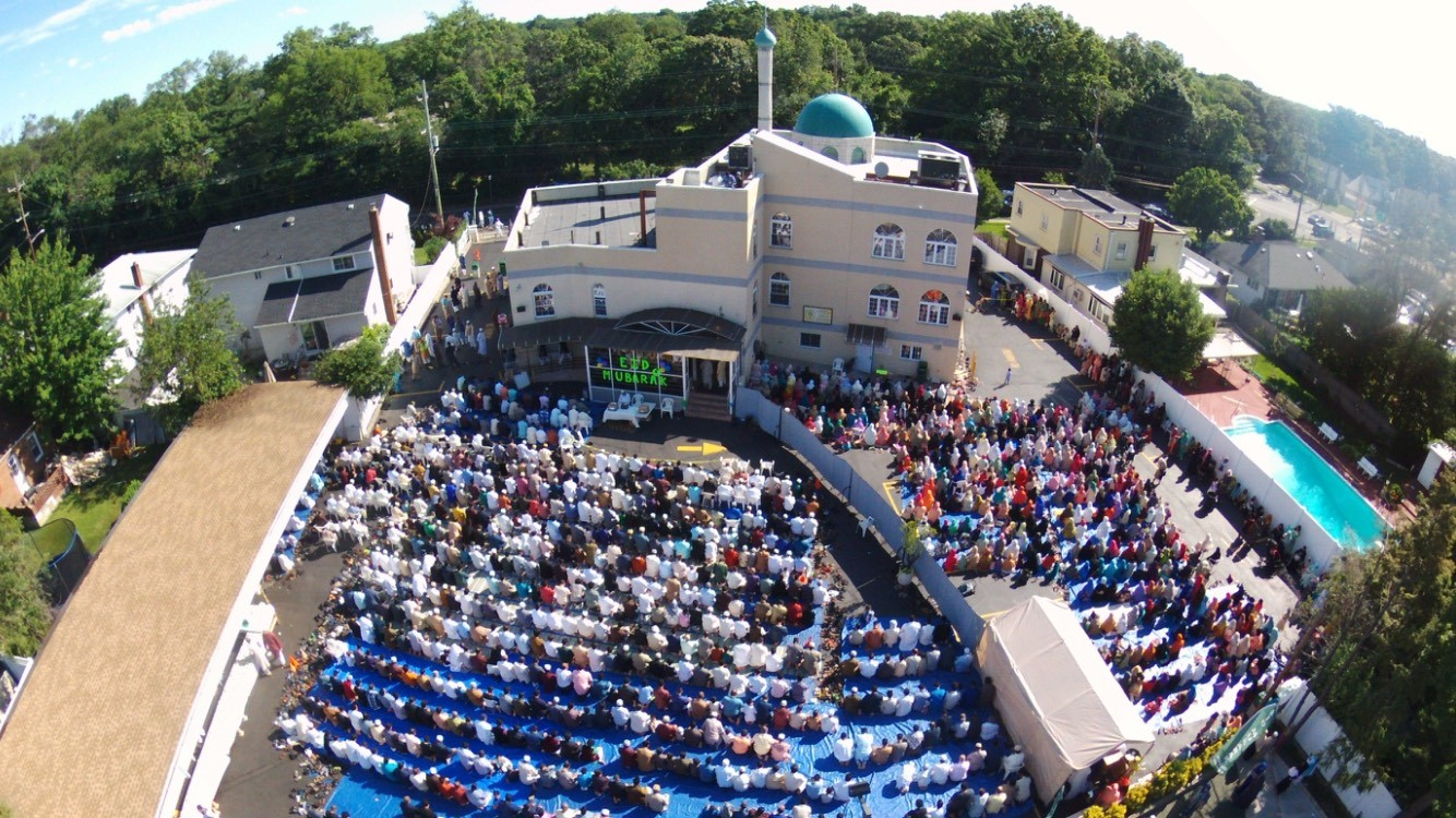 Congregants gathered at the mosque in June to celebrate Eid al-Fitr, the first of two annual holy days in Islam.