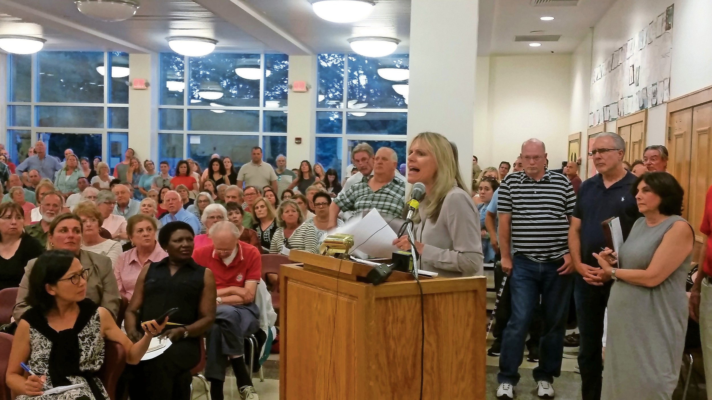 Agatha Nadel, a lifelong resident of Glen Head, was one of many residents who voiced concerns on Aug. 9 at a public meeting to address a recent steep increase in New York American Water's bills.